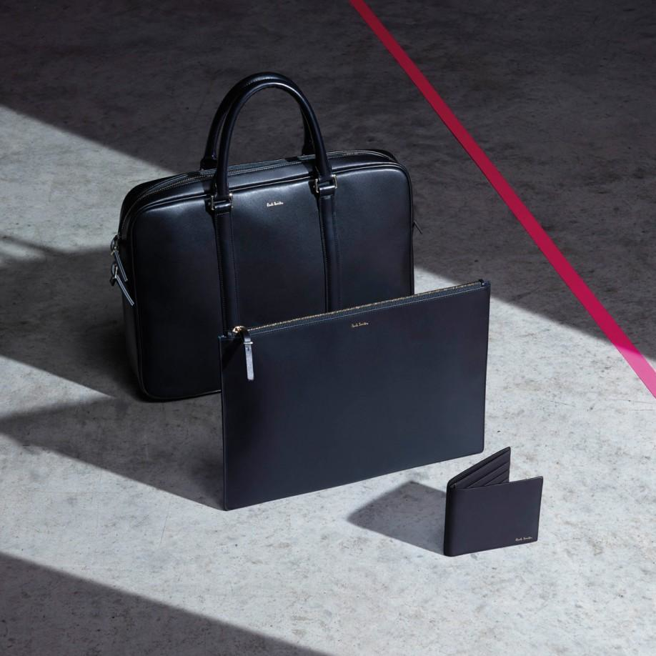 promo code 3e718 1f42c Paul Smith Black 'City Embossed' Leather Business Folio in Black for ...