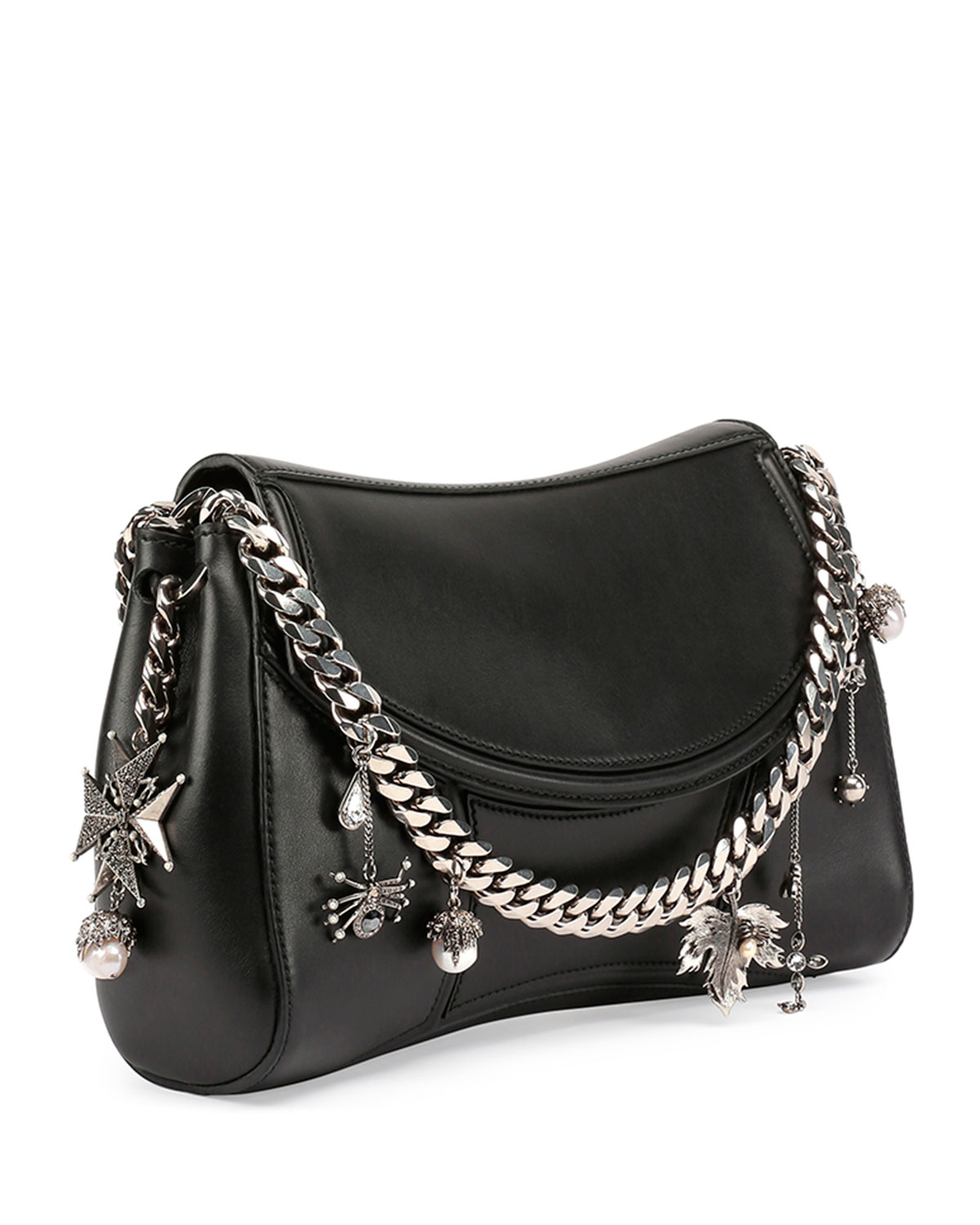 Alexander mcqueen Medallion Leather Chain-strap Shoulder Bag in ...