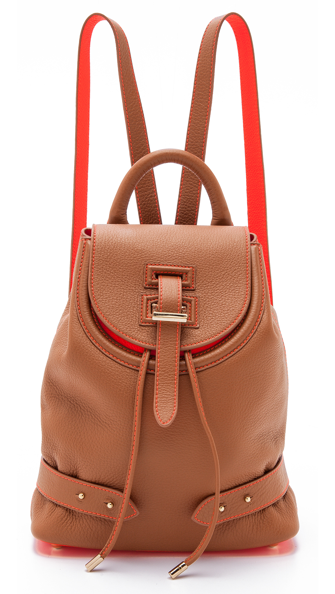 meli melo mini thela backpack tan and coral in brown lyst. Black Bedroom Furniture Sets. Home Design Ideas