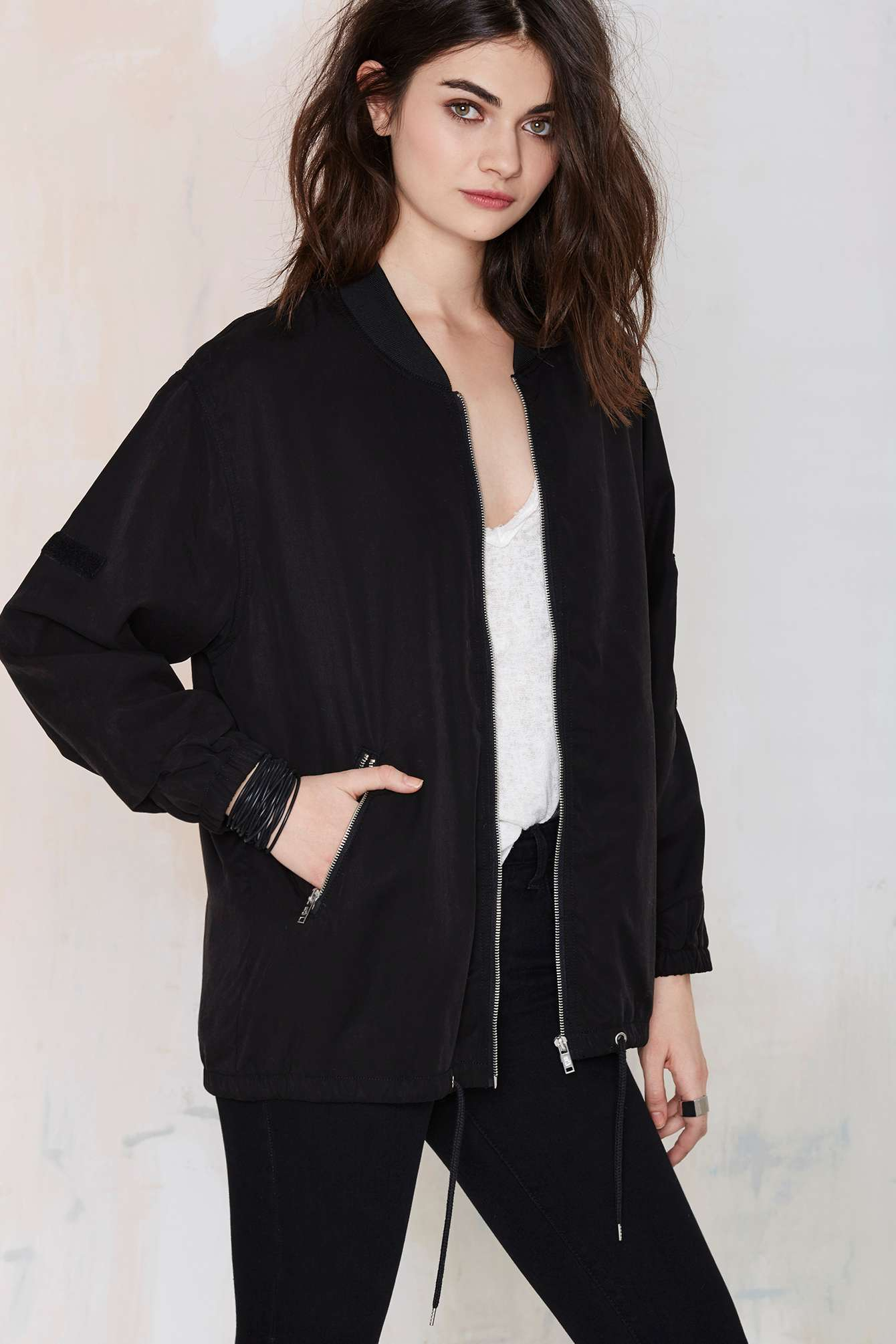 Nasty gal Cheap Monday Boom Bomber Jacket in Black | Lyst