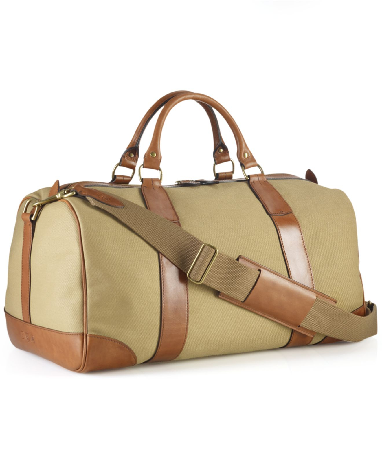 09b0fe351f36 ... low price lyst polo ralph lauren core canvas gym bag in natural for men  8adfb 52188 ...