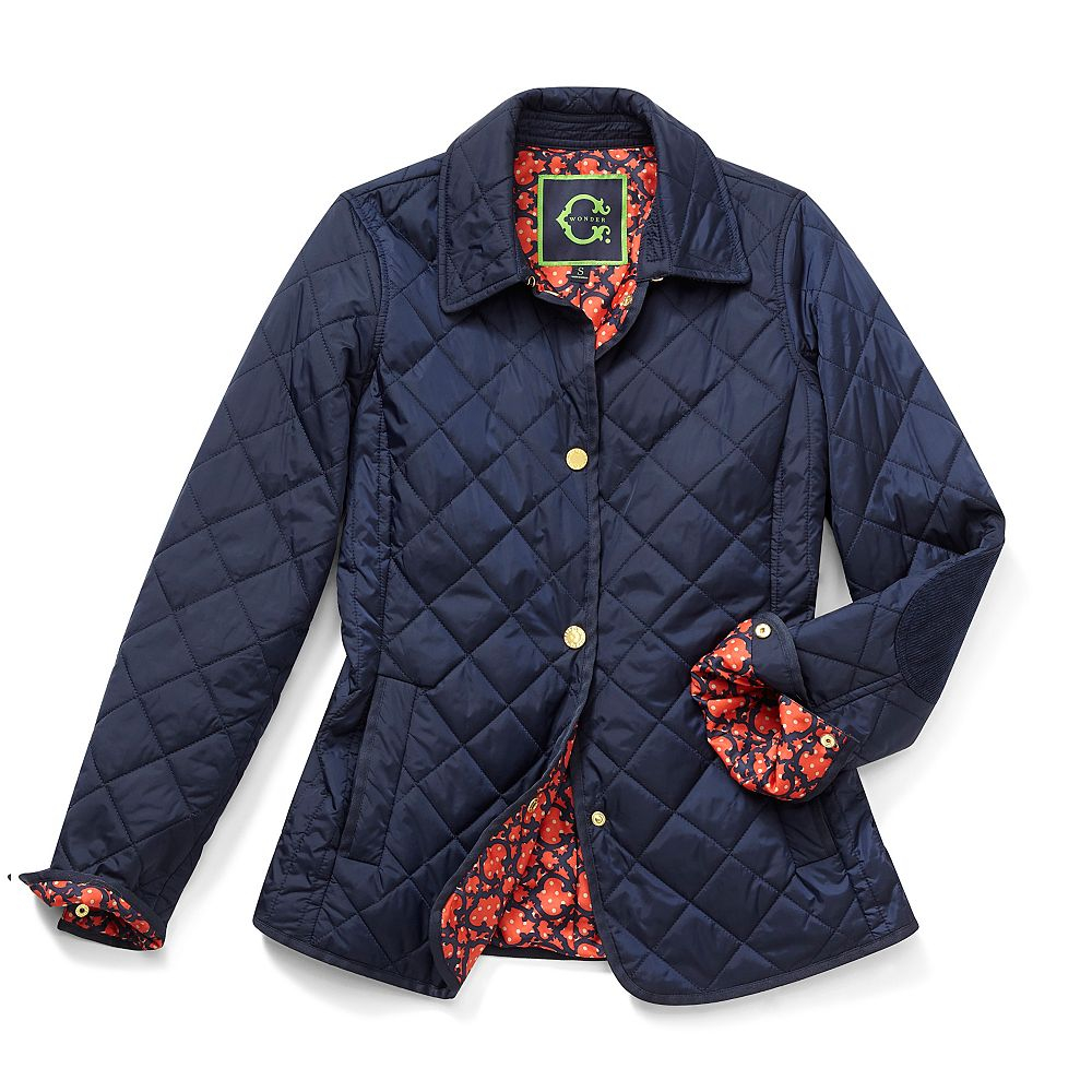 C Wonder Quilted Nylon Barn Jacket In Blue NAVY Lyst