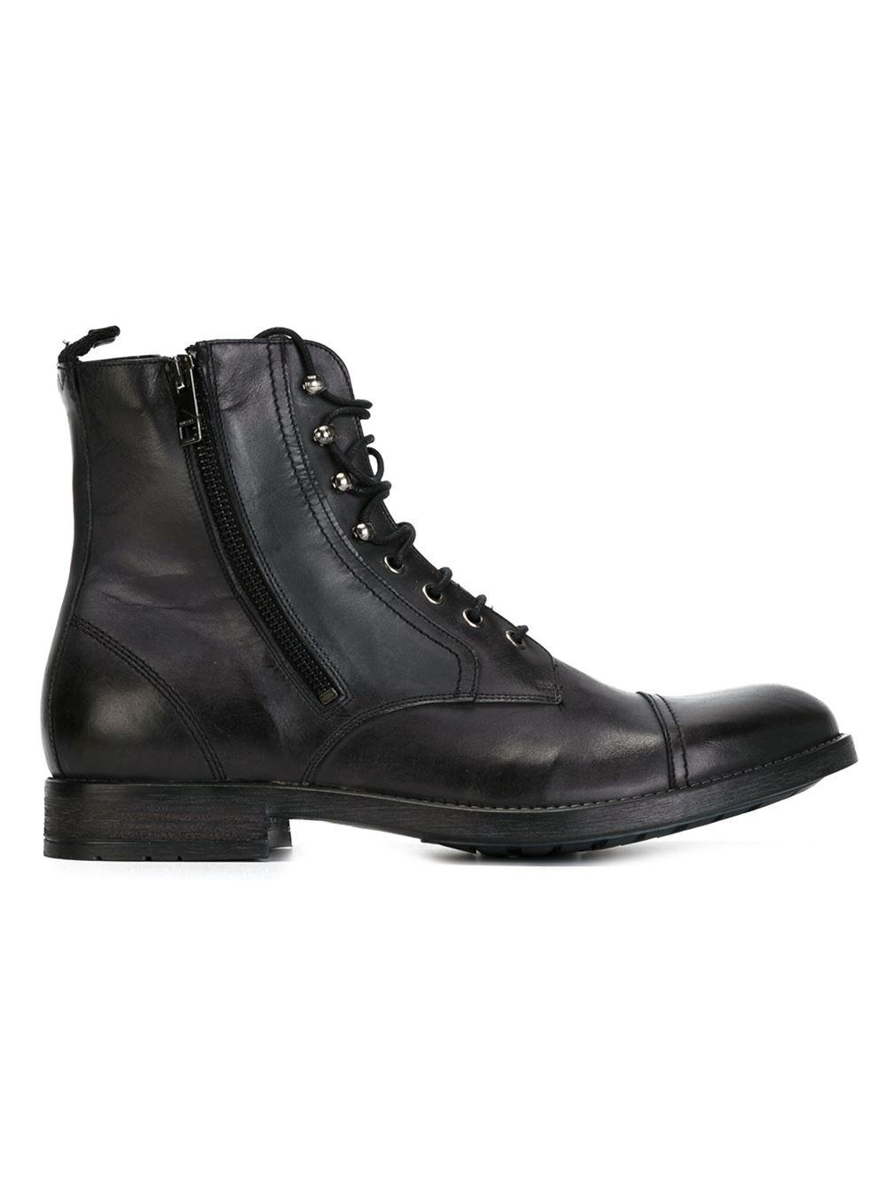 Diesel 'd-kallien' Ankle Boots in Black for Men | Lyst