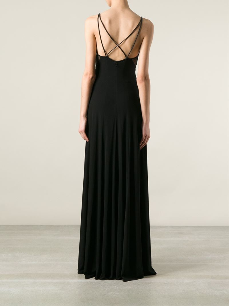 Ralph Lauren Black Label Spaghetti Strap Maxi Dress In