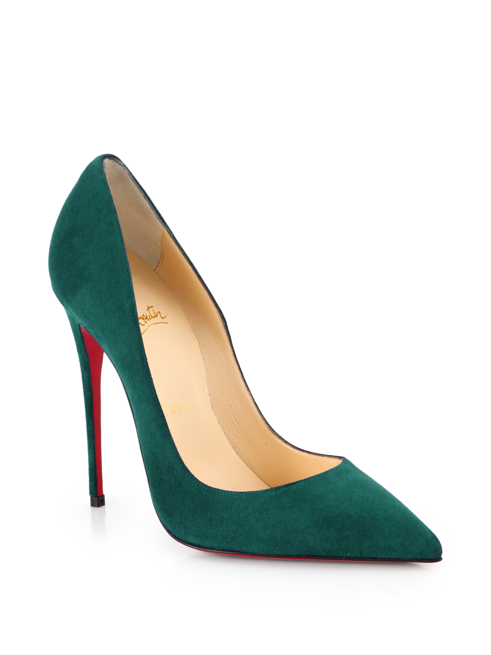 d7e238806cf6 Lyst - Christian Louboutin So Kate Suede Pumps in Green
