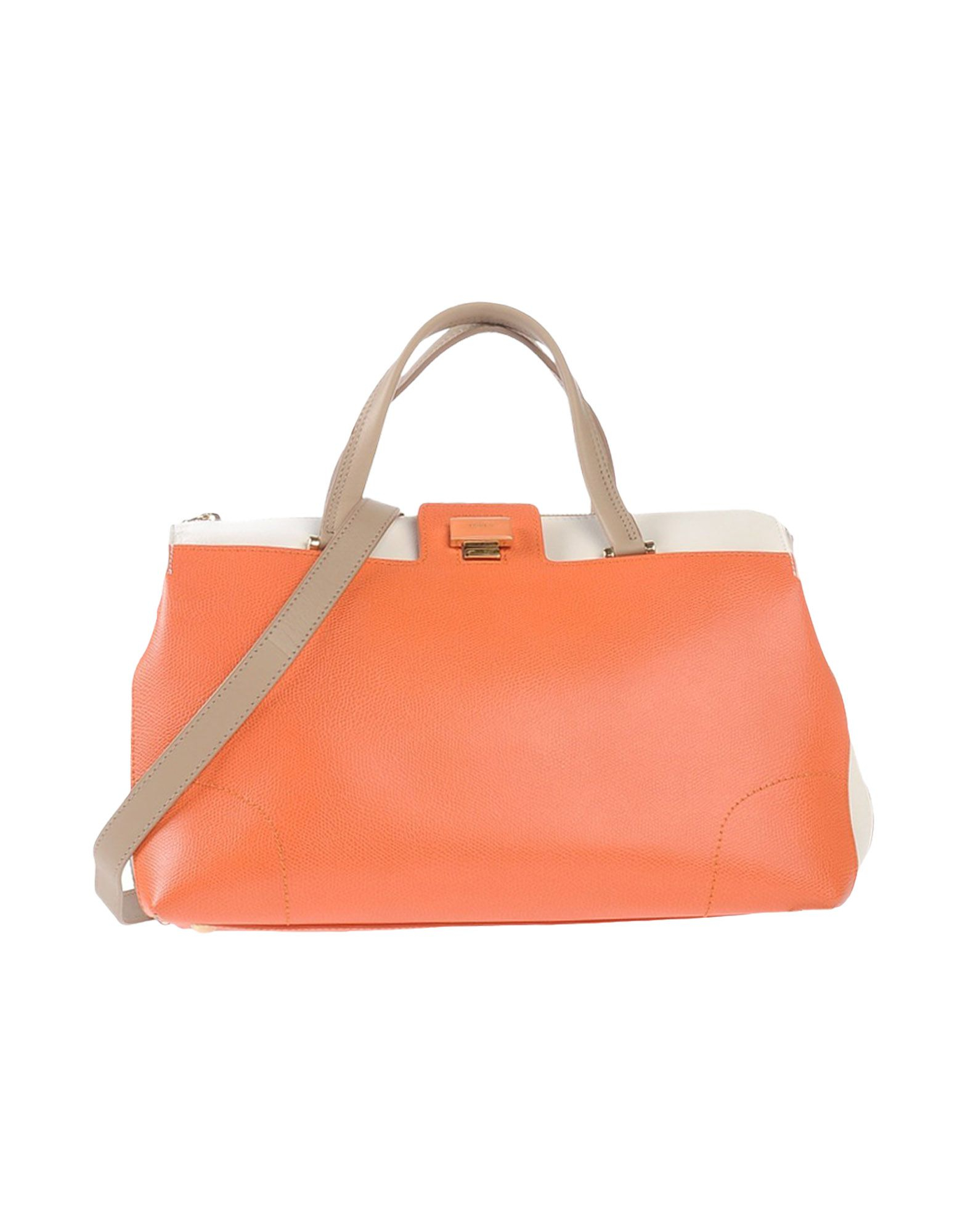 furla handbag in orange lyst. Black Bedroom Furniture Sets. Home Design Ideas