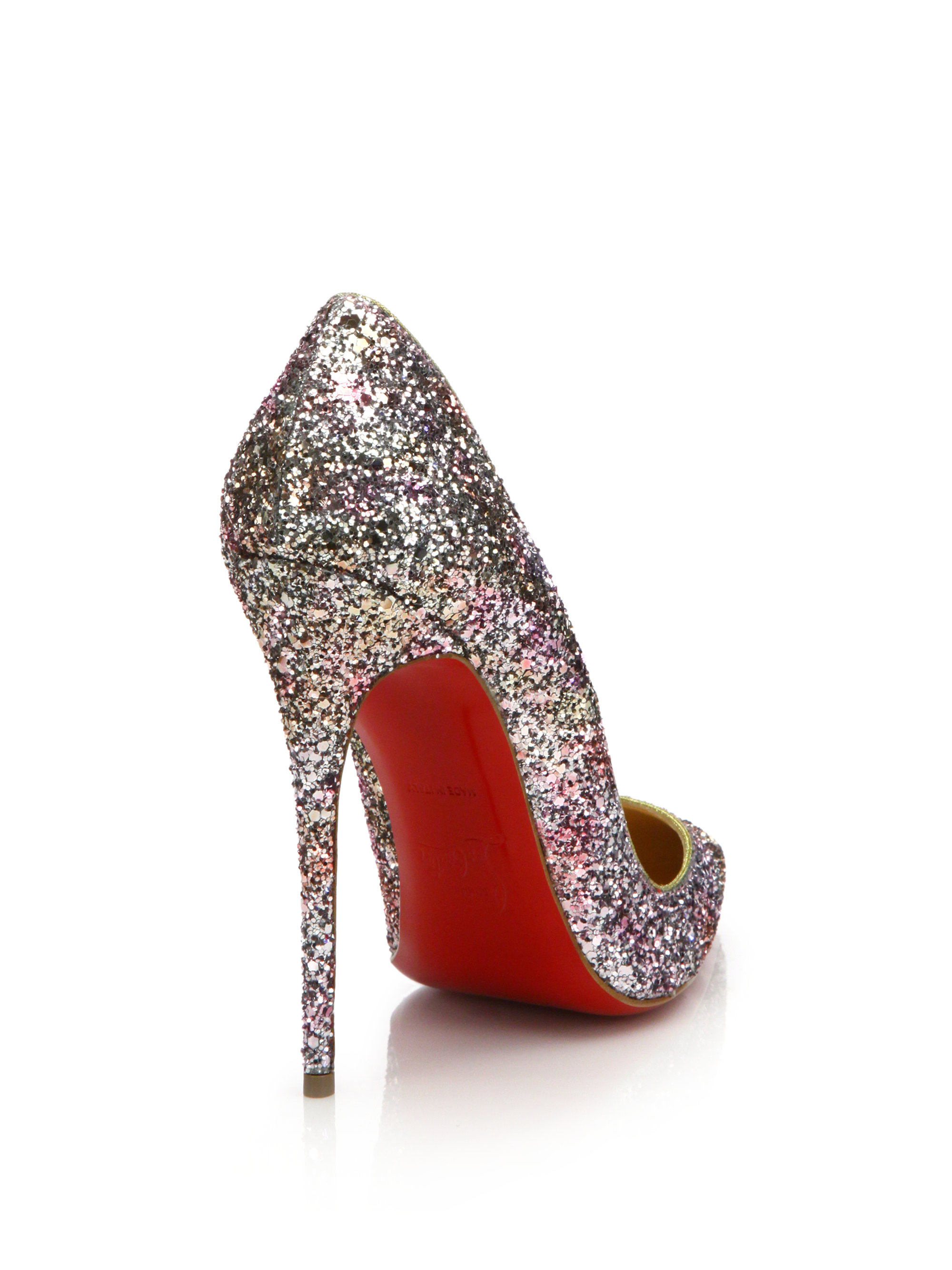 replica christian louboutin mens - Christian louboutin So Kate Glittered Leather Pumps in Black (rose ...