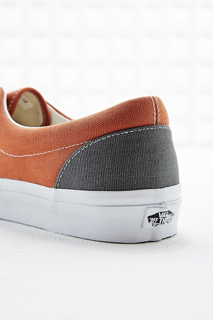 fbe64207b8 Vans Era Canvas Trainers in Rust Orange and Grey in Gray for Men - Lyst