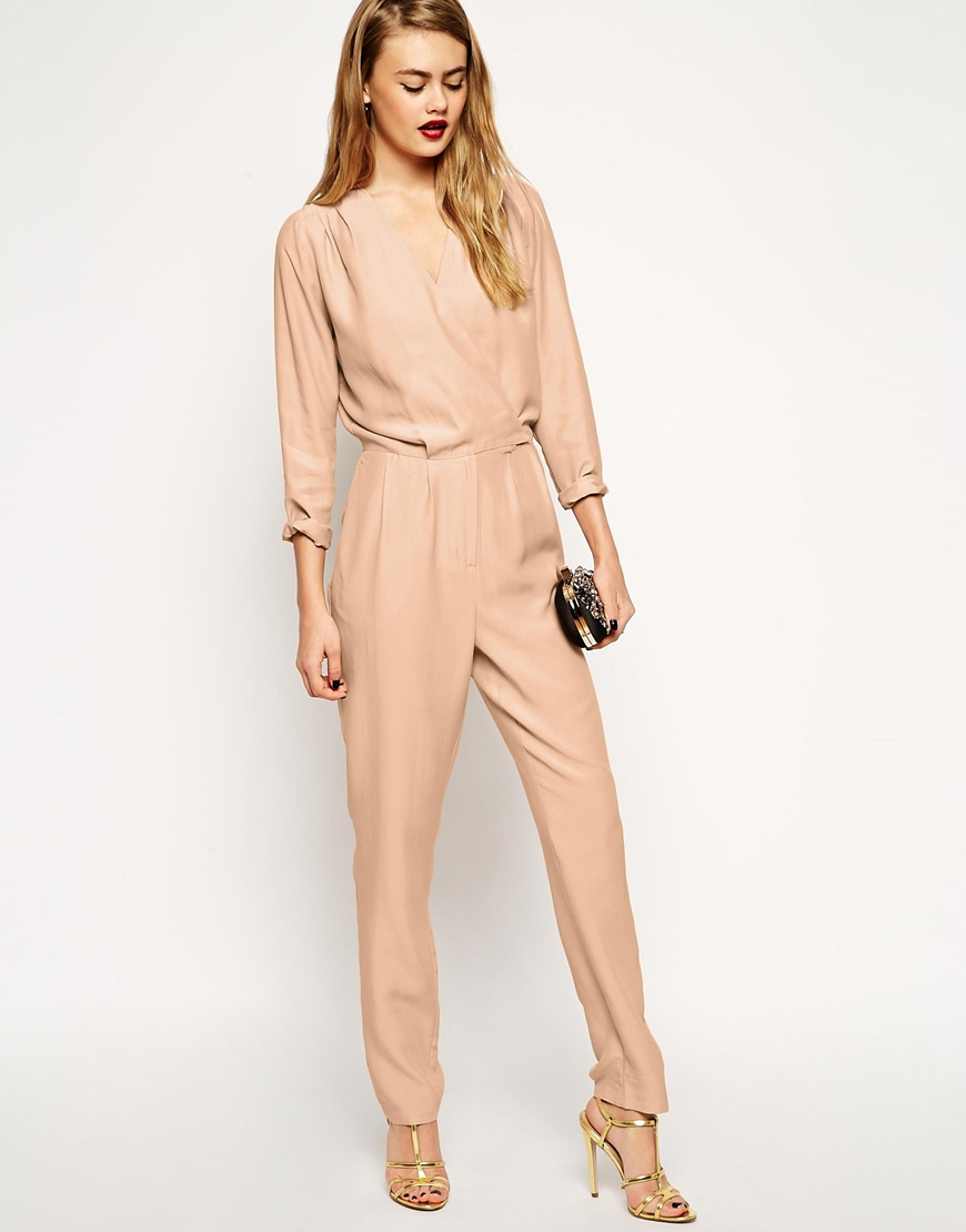 459922a136c Lyst - ASOS Casual Utility Jumpsuit In Oversized Relaxed Fit in Natural