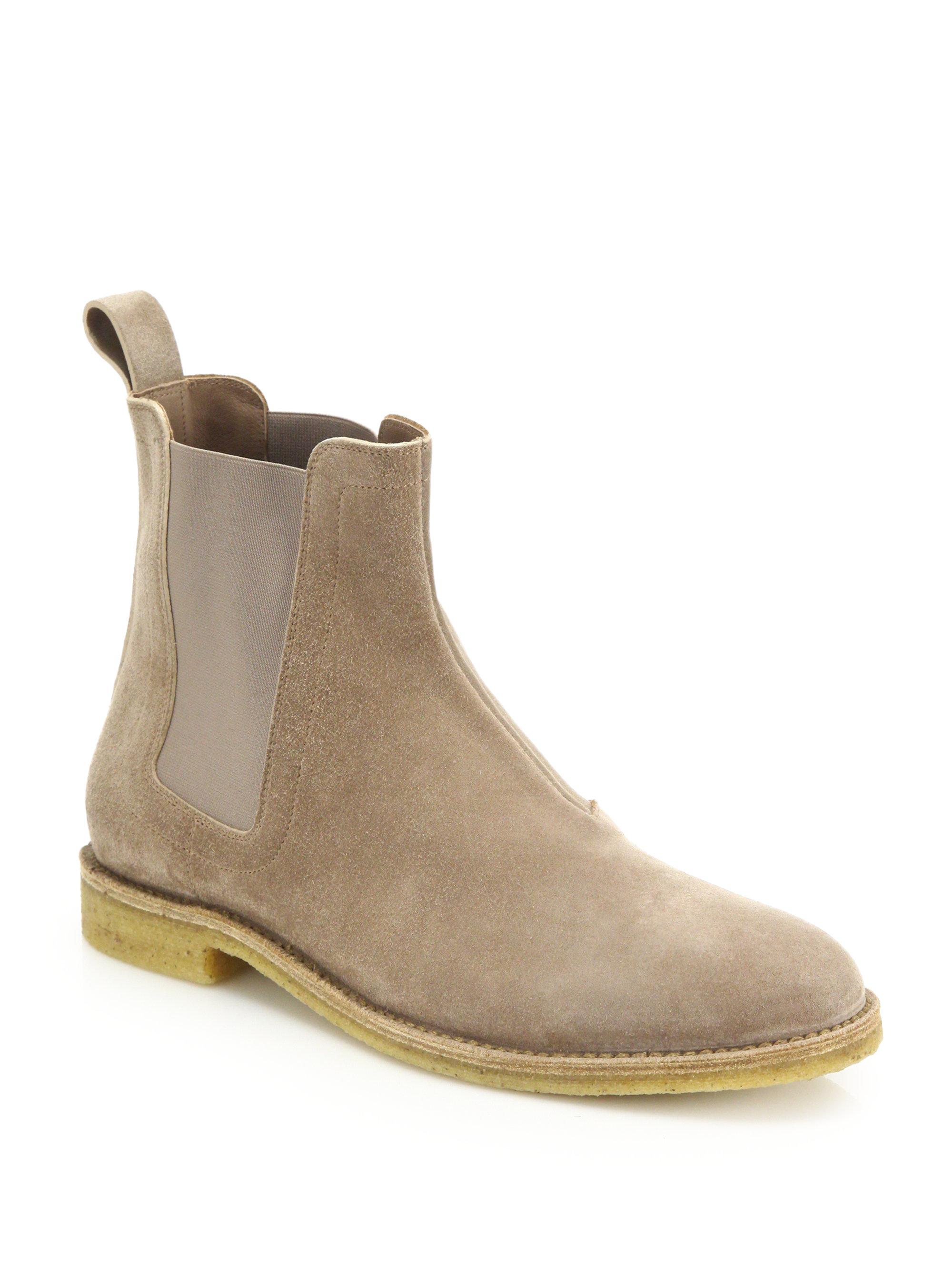 Bottega Veneta Tan Suede Chelsea Boots A8d12zWzzj