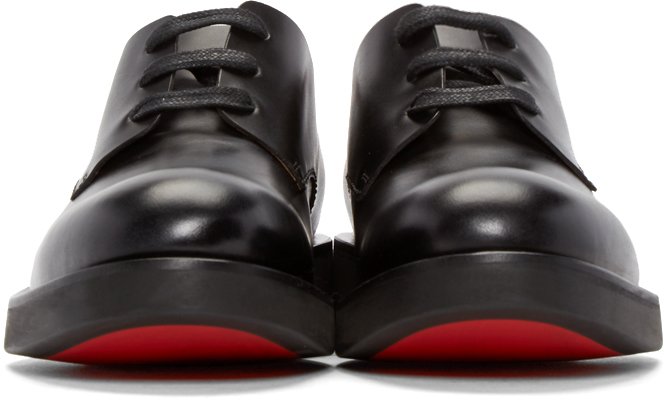 Paul Smith Black Leather Thick Sole Derbys In Black For