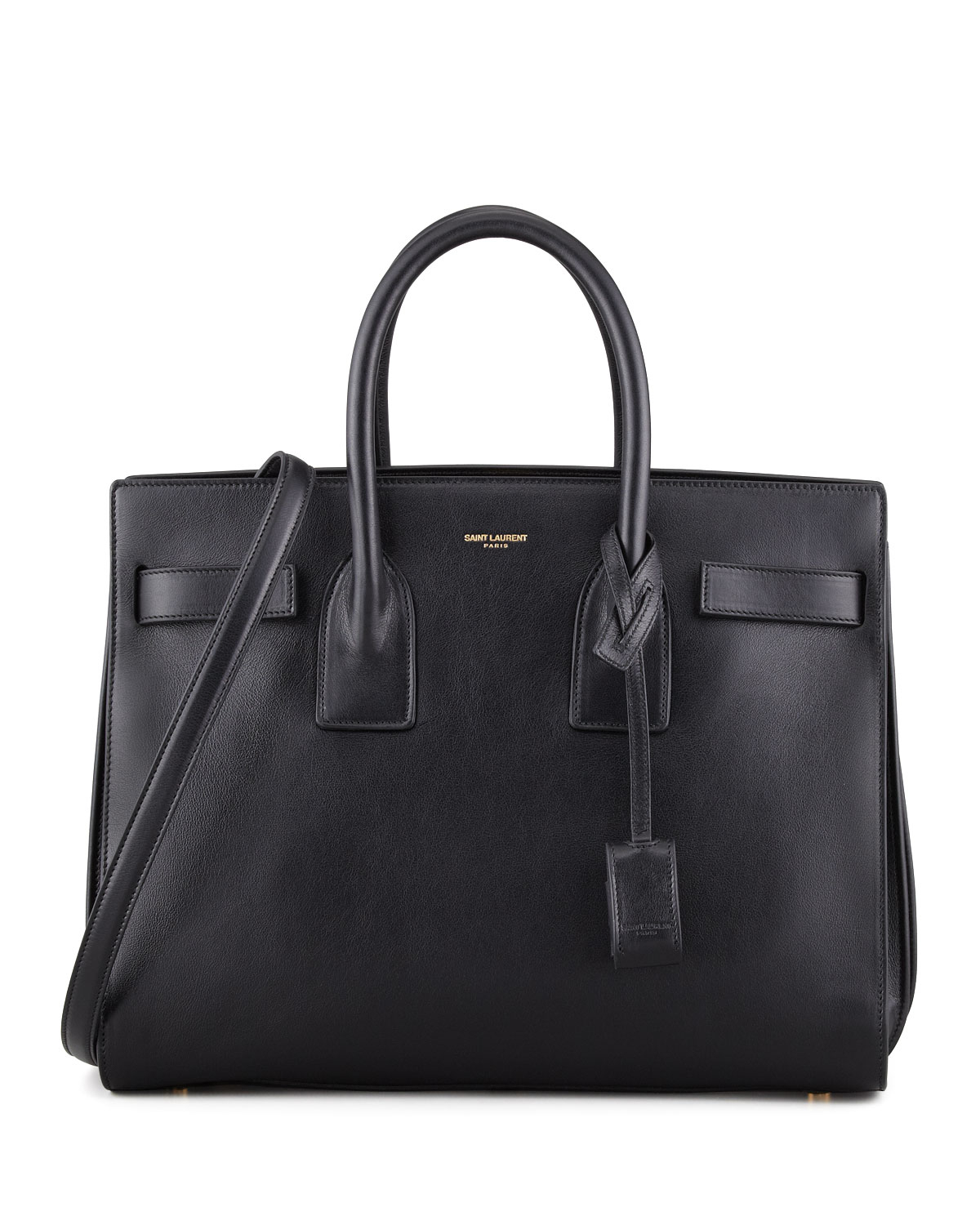 Saint laurent Sac De Jour Satchel Bag in Black