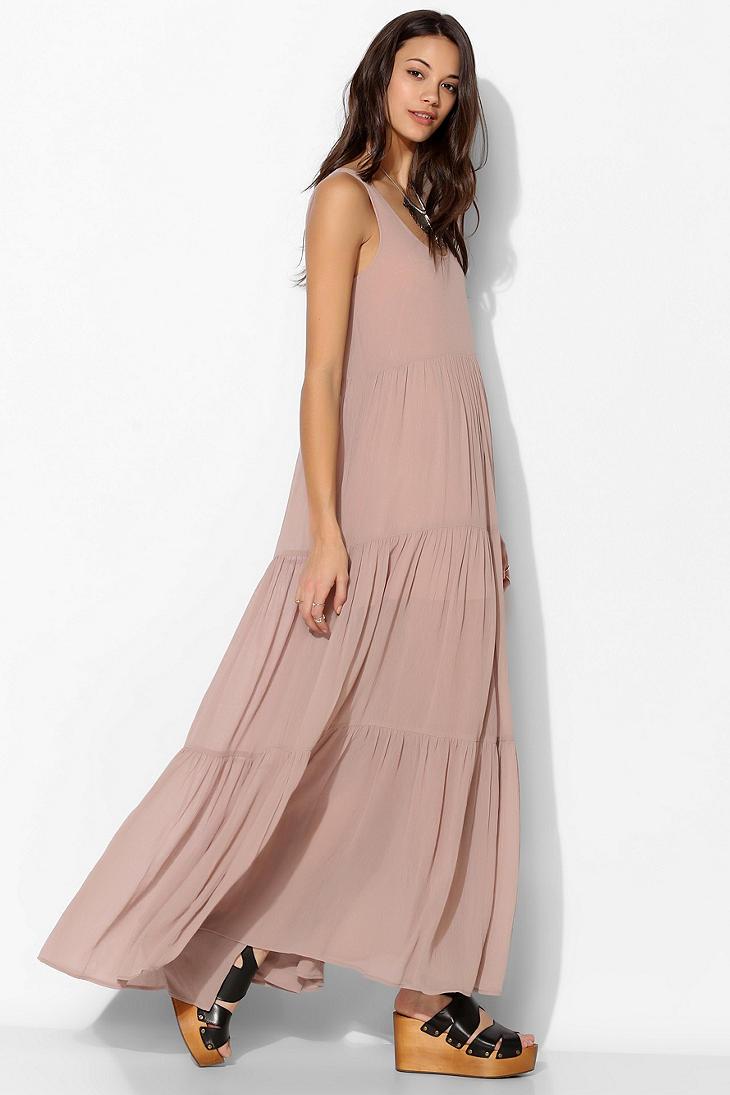 Chiffon layered maxi dress