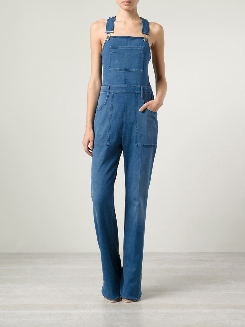 f7f98563ff7d Lyst - Stella McCartney Denim Overall Jumpsuit in Blue