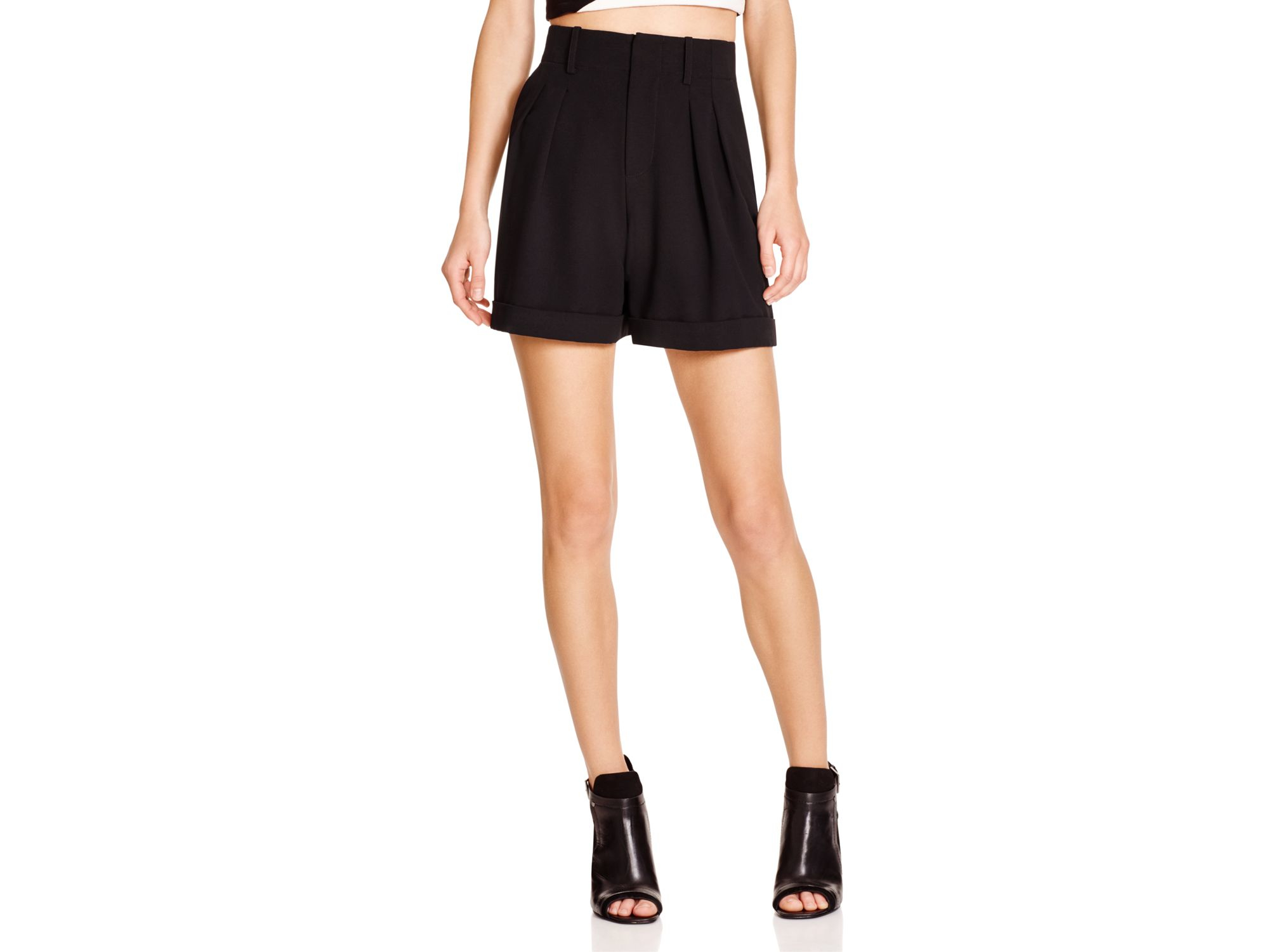 Alice   olivia Alice   Olivia Amani High Waist Pleated Shorts in ...