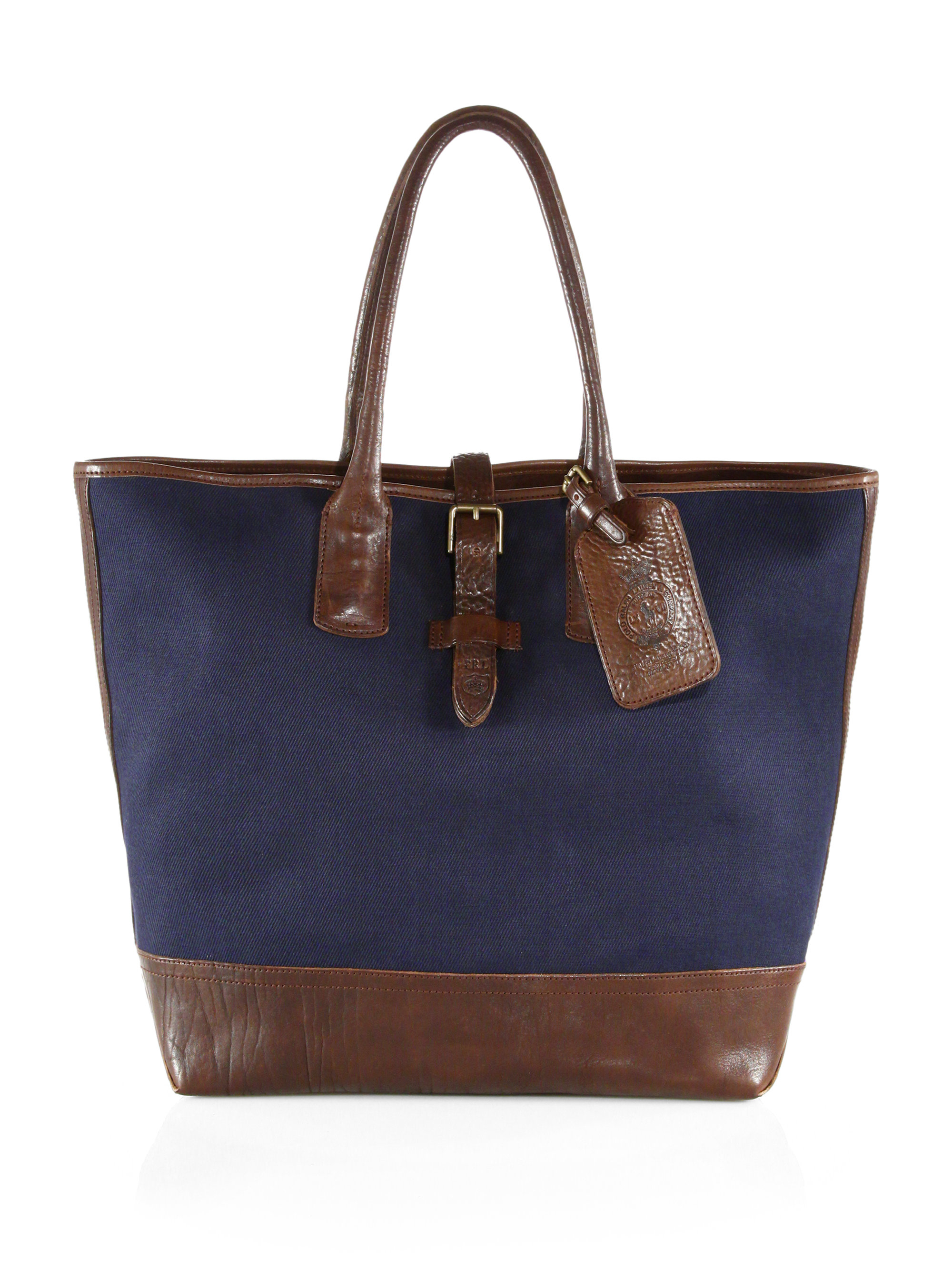 691deb1194 ... new zealand lyst polo ralph lauren canvas tote bag in blue for men  45f96 66e7f ...