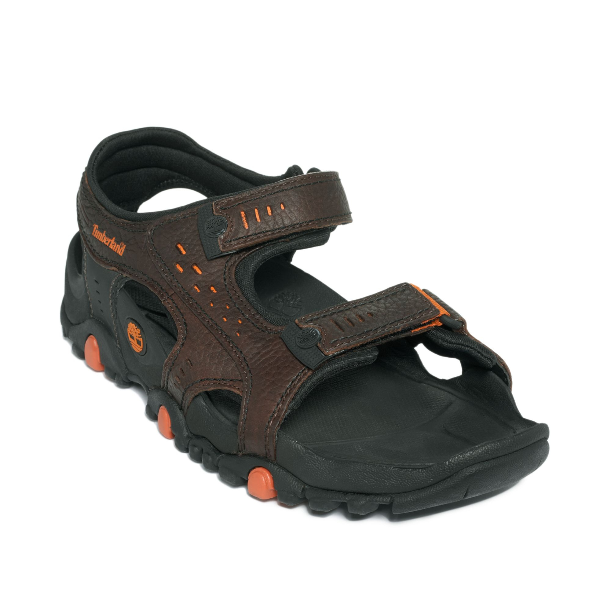 Timberland Granite Trail T Back Sandals In Brown For Men