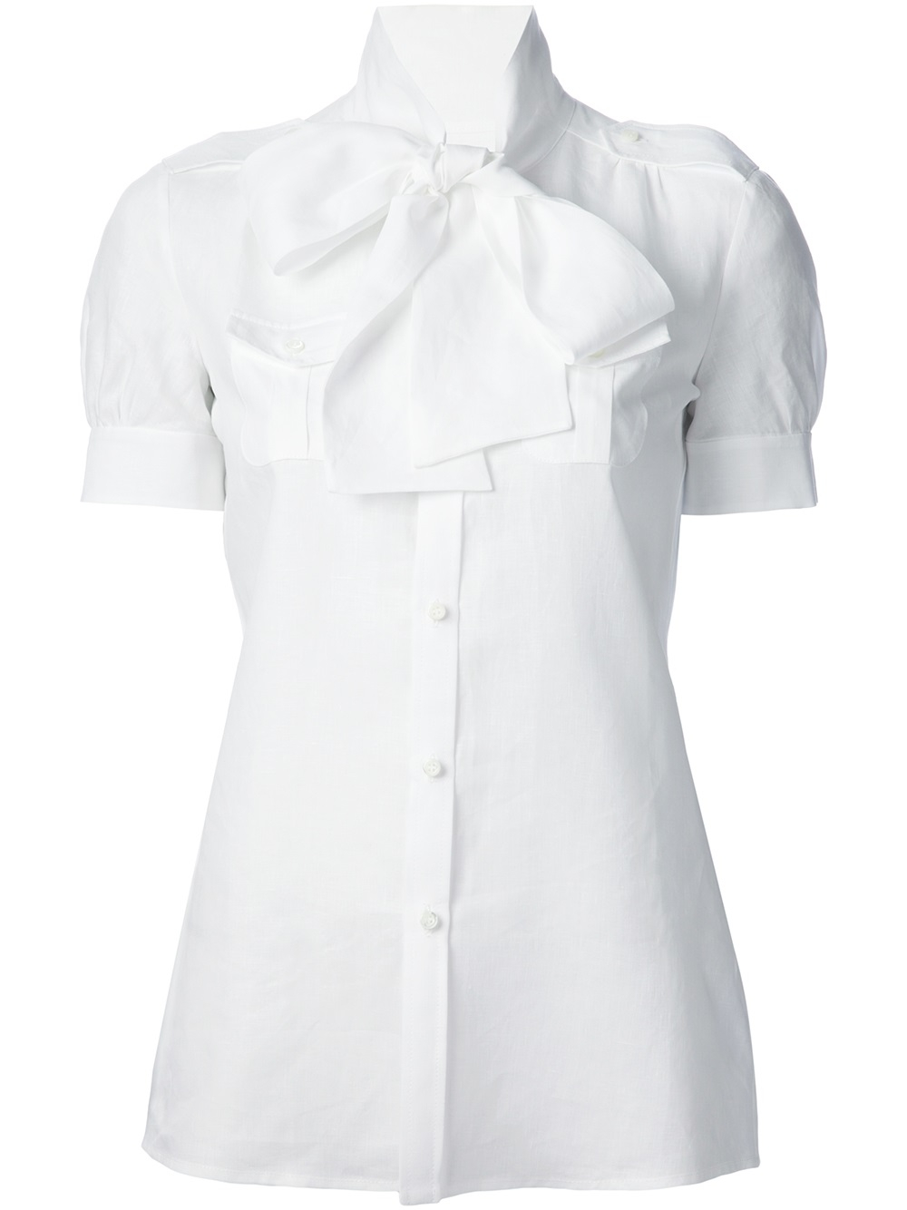 Dsquared 178 Pussy Bow Blouse In White Lyst