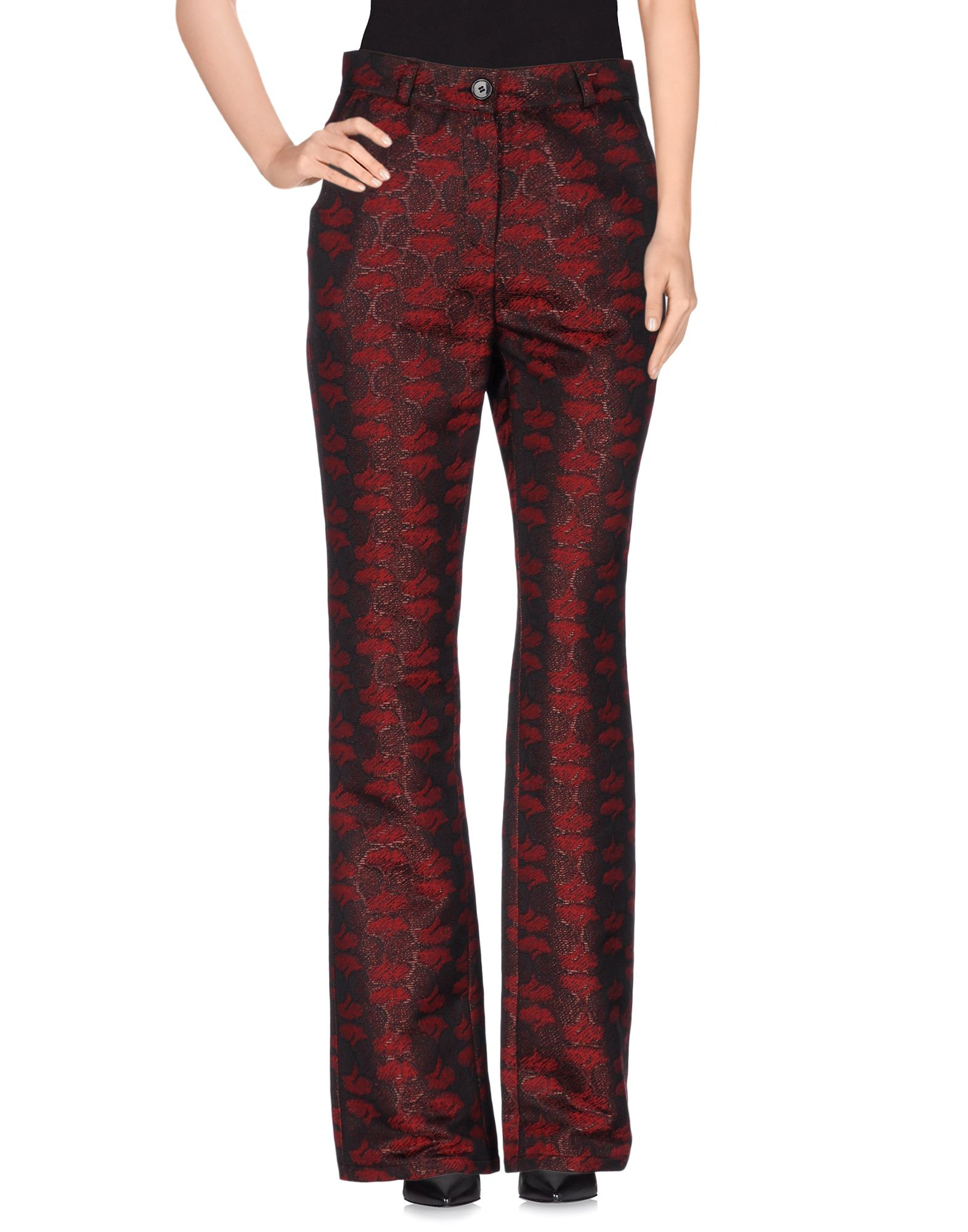 Brilliant Black Maroon Slouch Elastic Waist Women39s Dress Pants Size Medium M