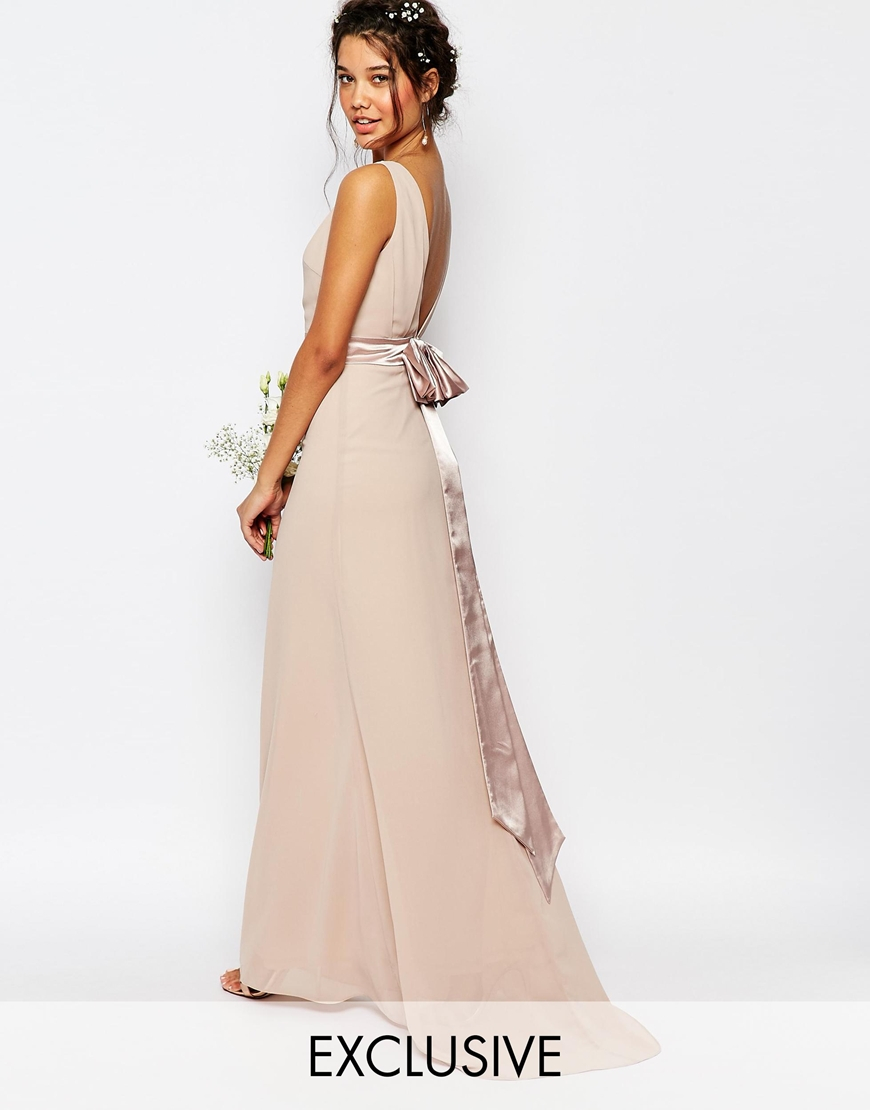 Tfnc maxi dress with chain straps