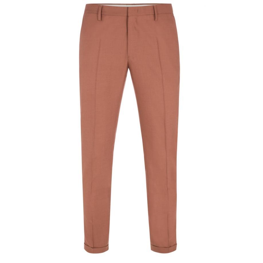 4b0f6125e74 Lyst - Paul Smith Men s Terracotta Wool Trousers in Pink for Men