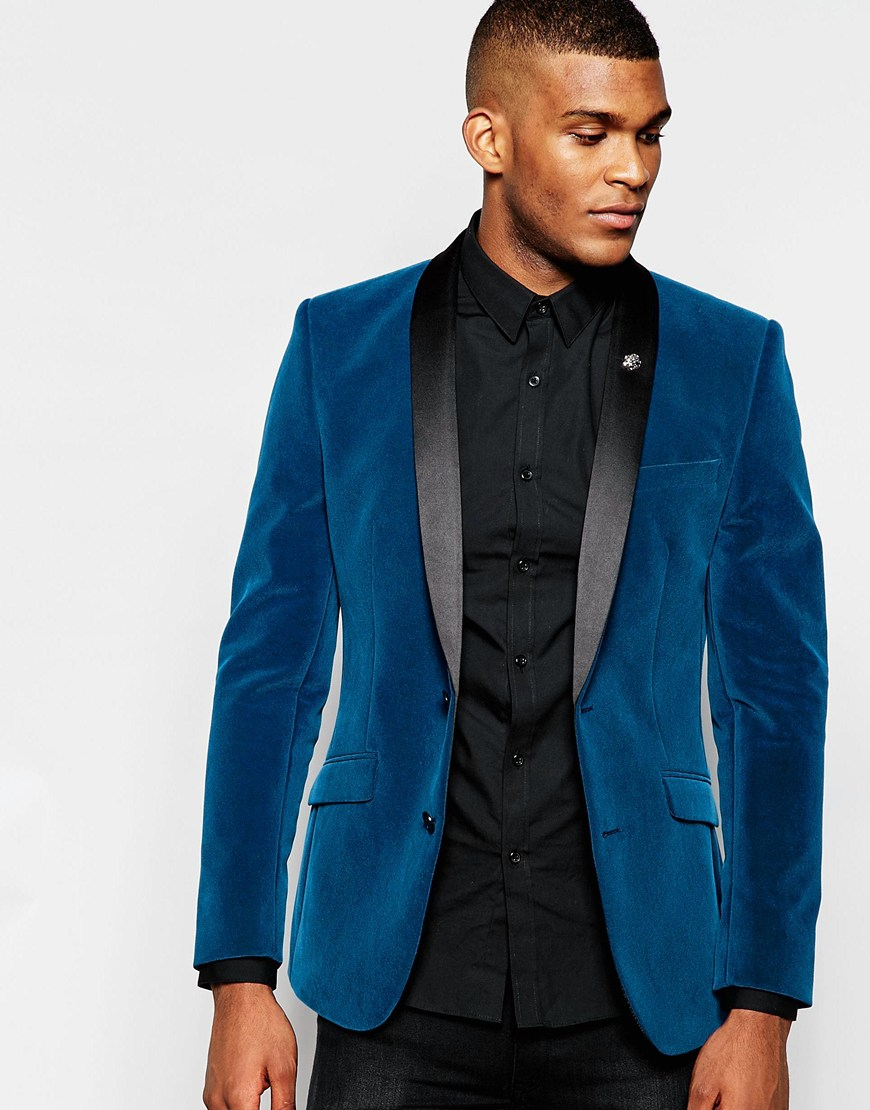 Royal Blue Velvet Blazer Men | Www.imgkid.com - The Image Kid Has It!