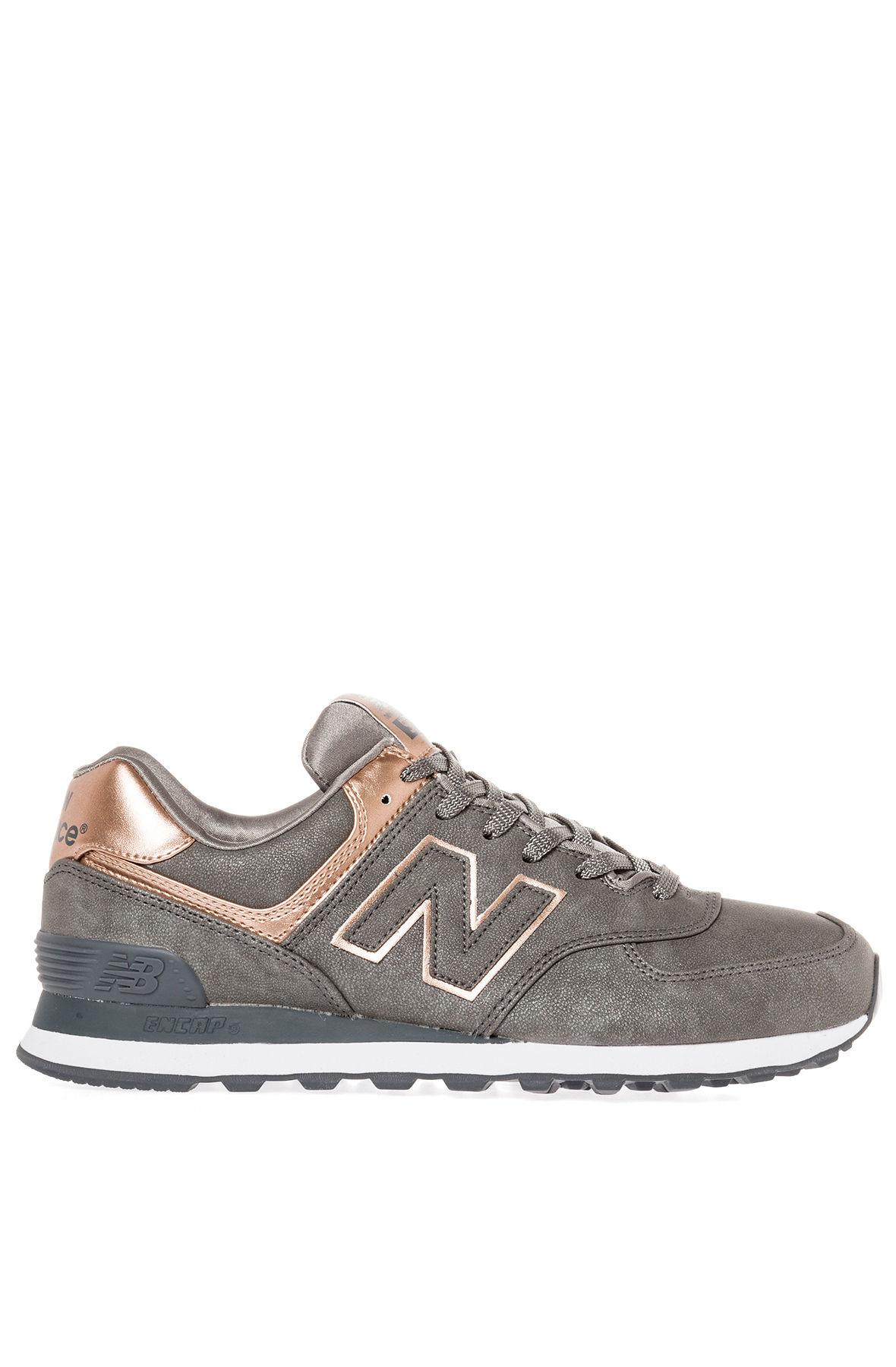 lyst new balance the precious metals 574 sneaker in metallic. Black Bedroom Furniture Sets. Home Design Ideas