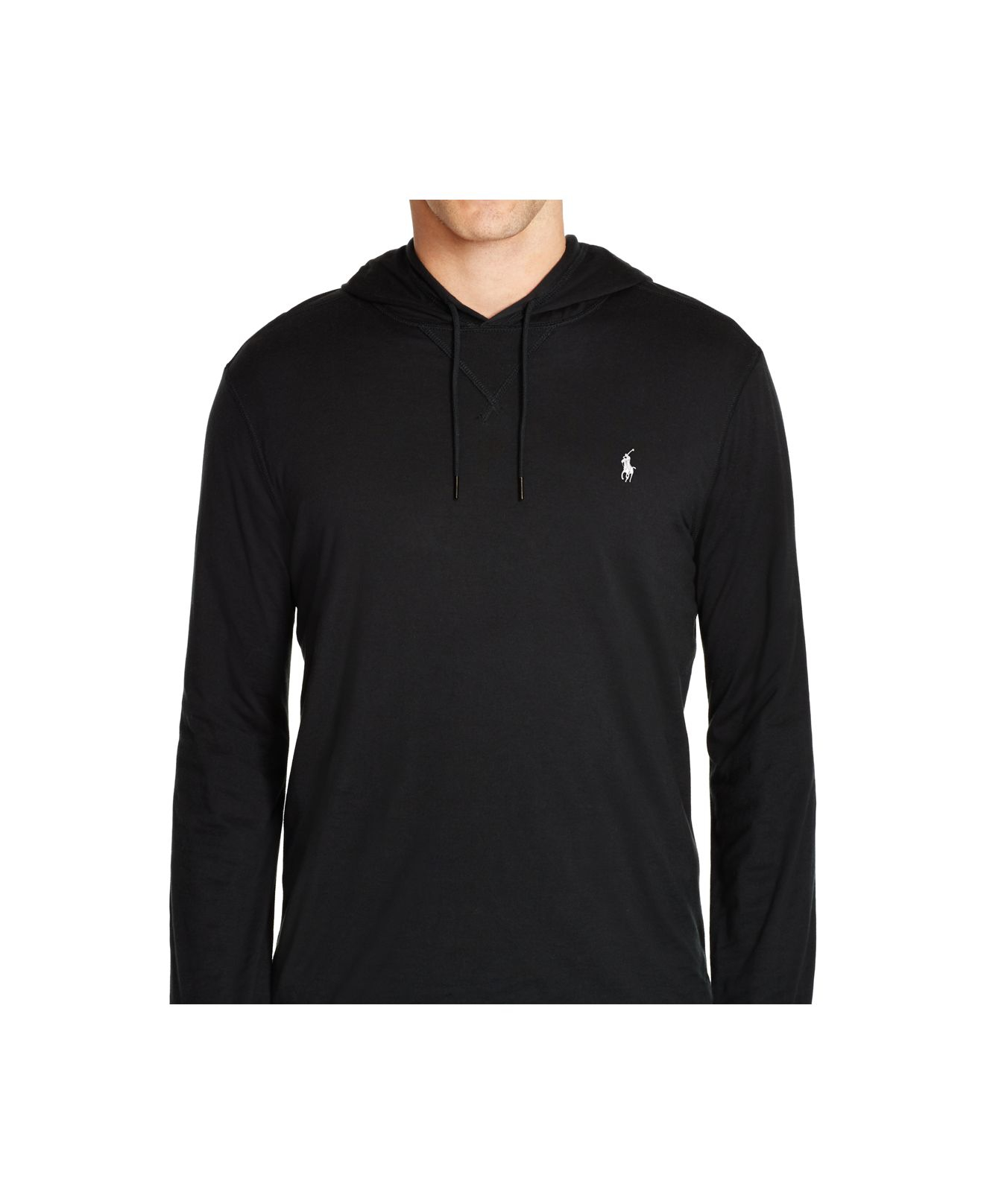 157a84831 Polo Ralph Lauren Double-layered Pima Featherweight Hoodie in Black ...