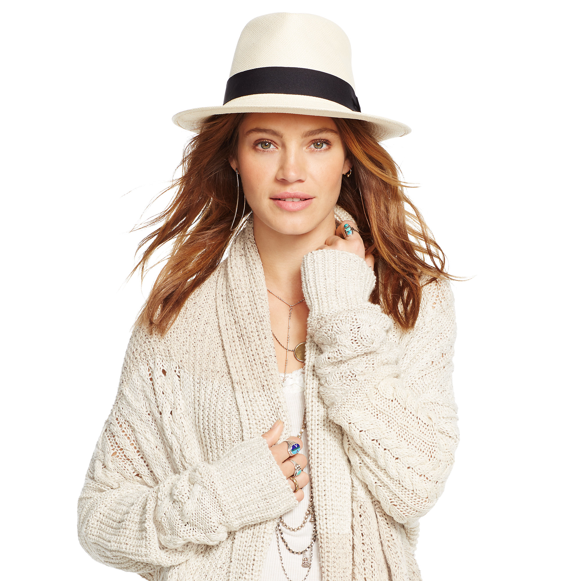 Denim & supply ralph lauren Patchwork Cable-knit Cardigan in White ...