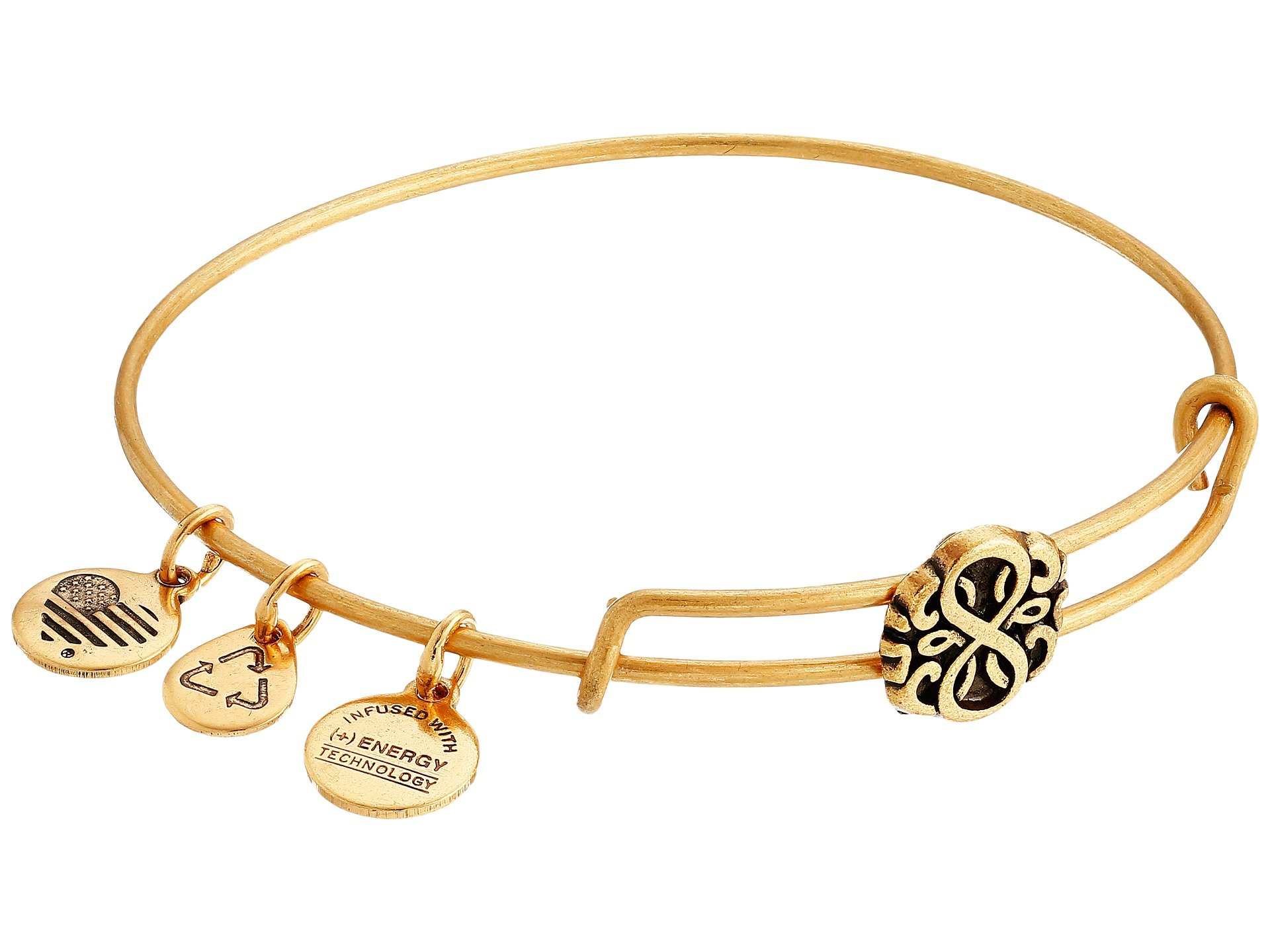 Alex And Ani Path Of Life Slider Expandable Wire Bangle In Metallic