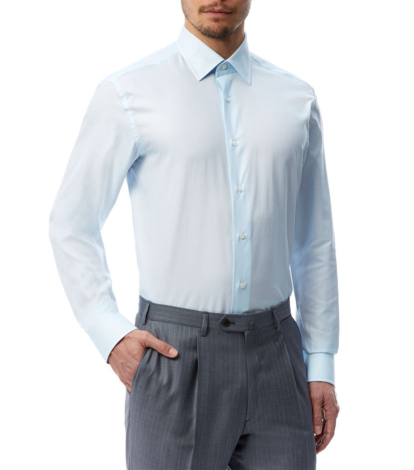 Lyst brioni textured spread collar shirt in blue for men for Men s spread collar shirts