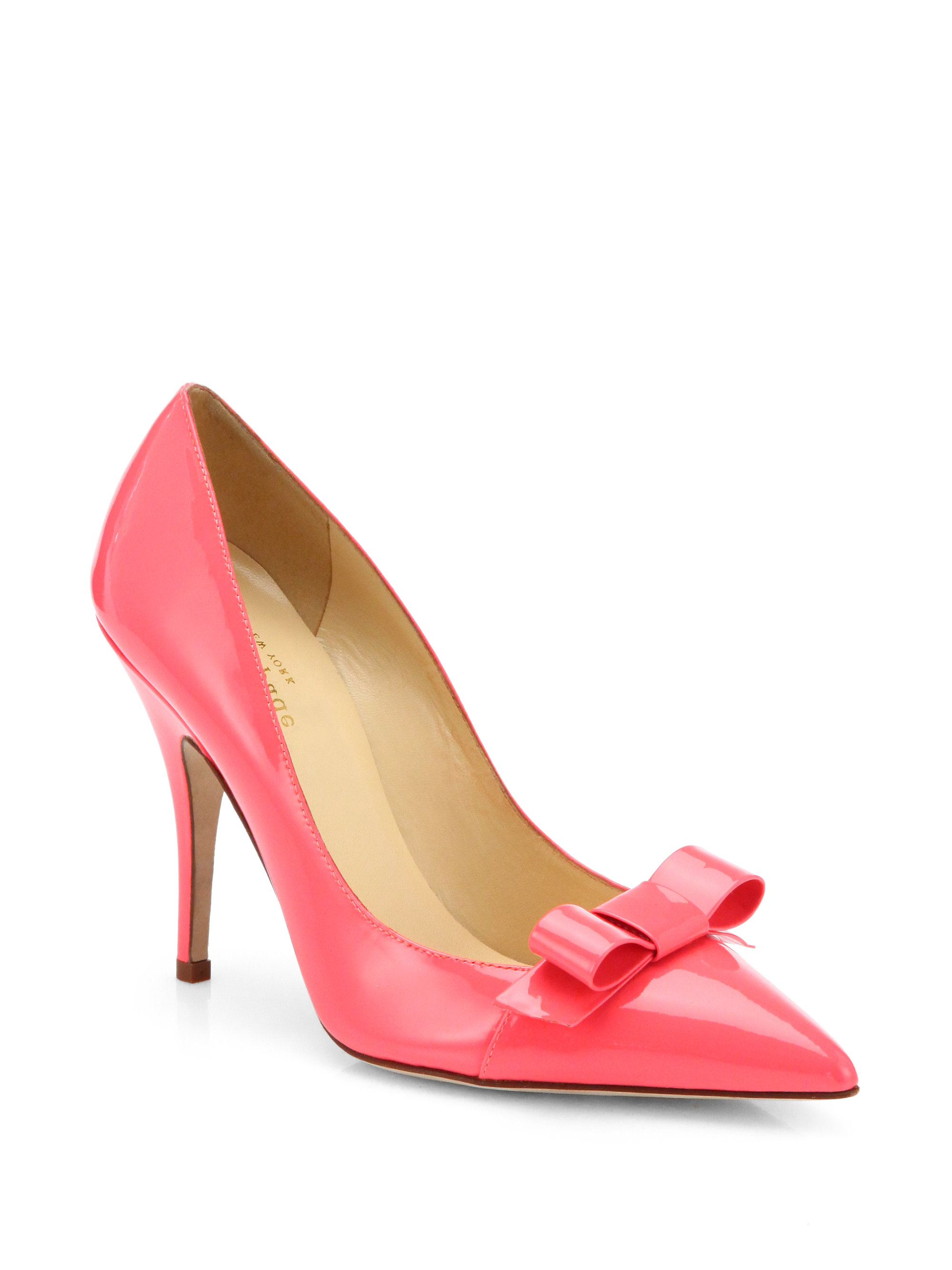 Kate spade lilia bow pumps in pink geranium lyst