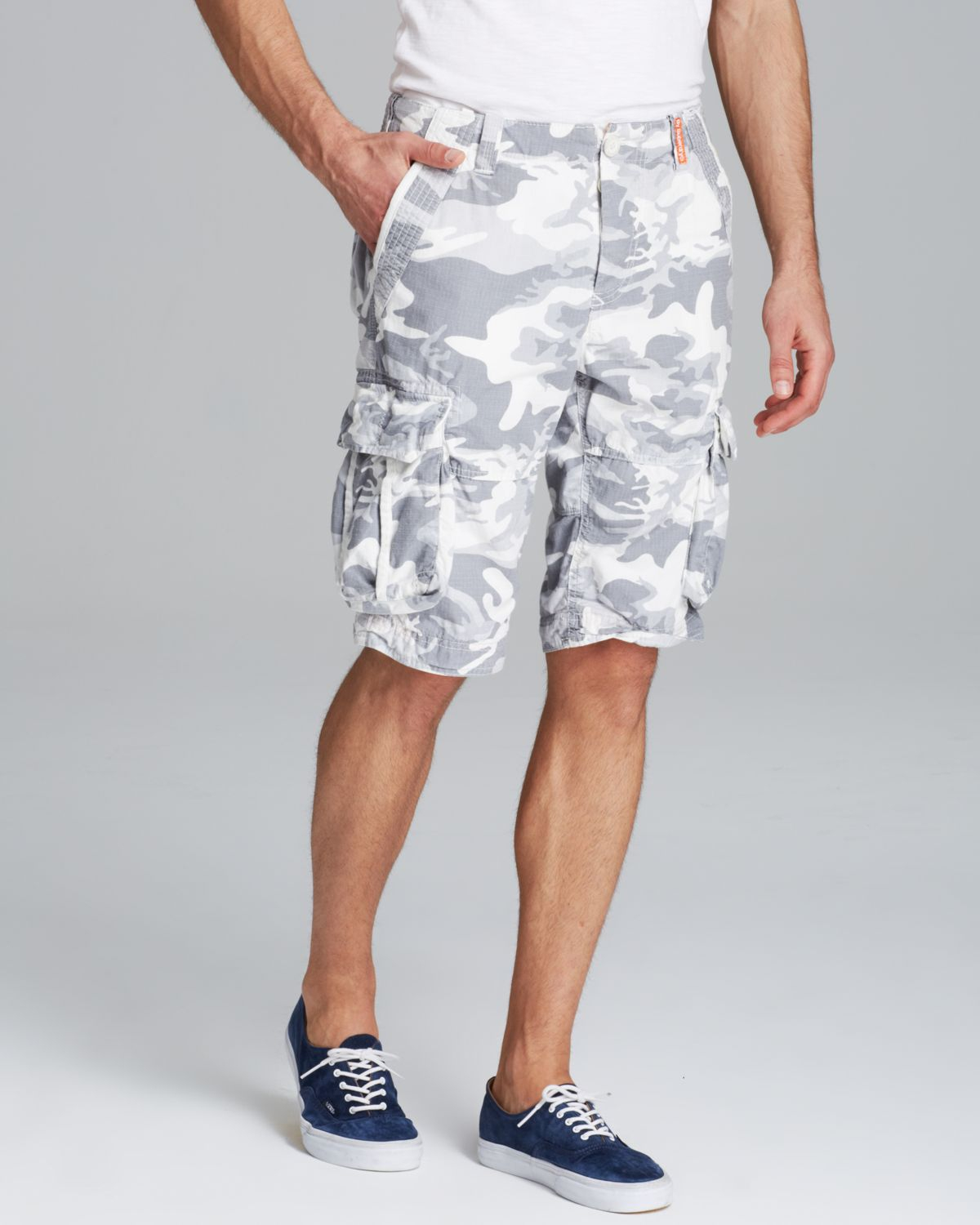 Lyst Superdry Camo Ripstop Shorts In Gray For Men