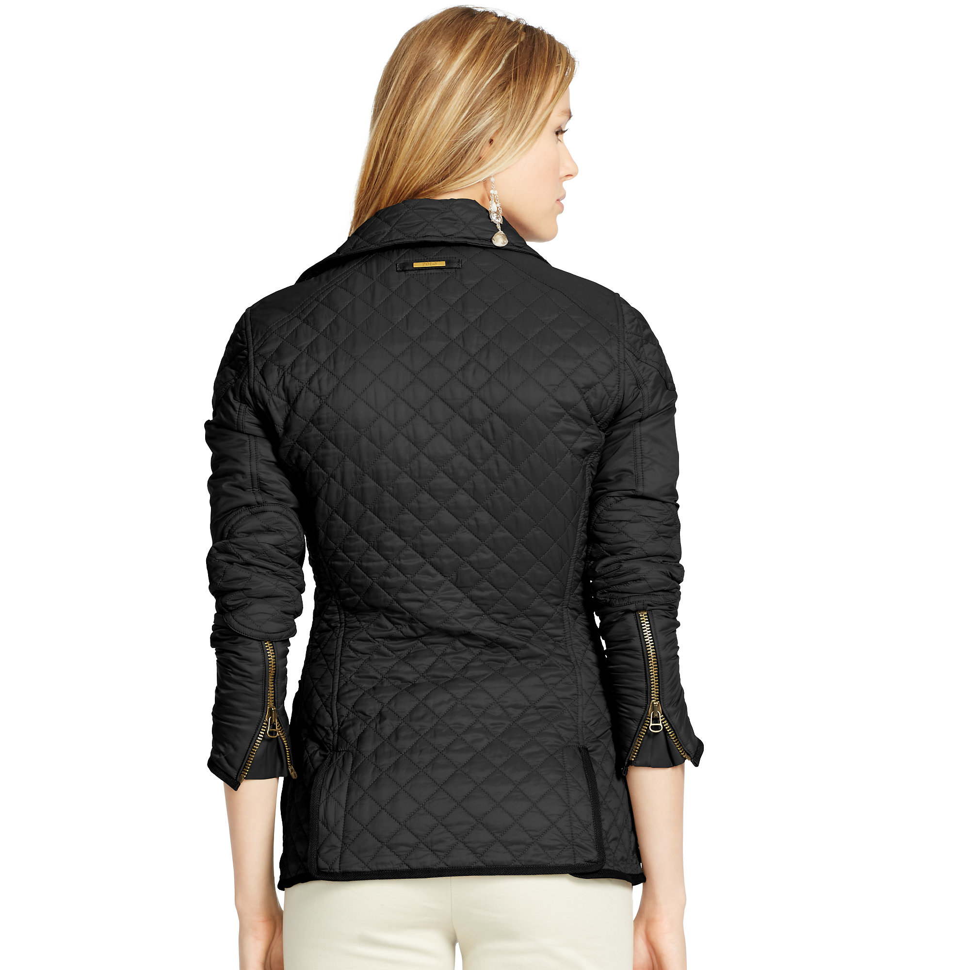 Lyst - Polo Ralph Lauren Quilted Shell Jacket In Black