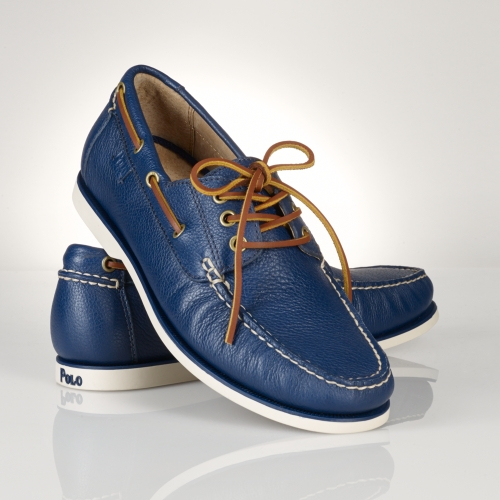 Polo ralph lauren Bienne Boat Shoe in Blue for Men | Lyst