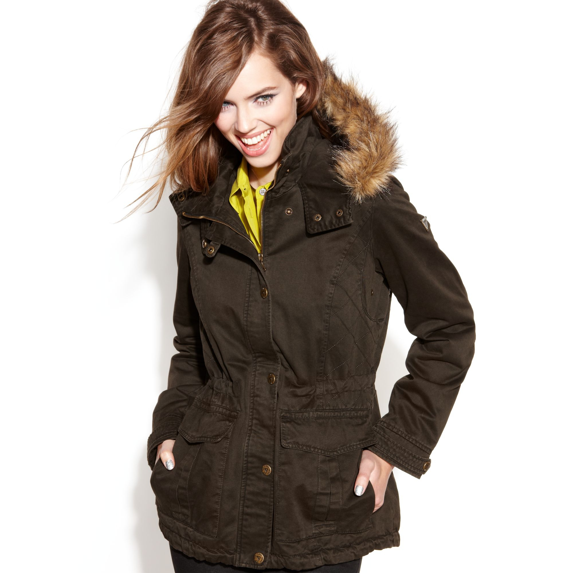 Guess winter coats for women