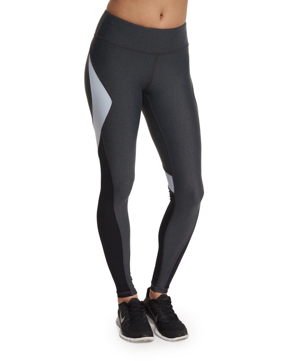 alala edge colorblock ankle running tights sport leggings in gray lyst. Black Bedroom Furniture Sets. Home Design Ideas