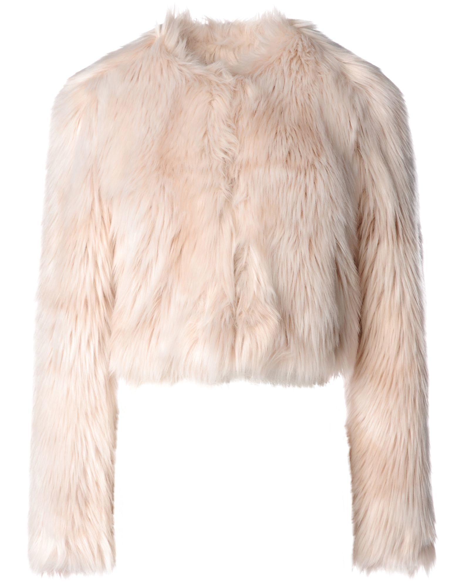 Red valentino Faux Fur Jacket in Pink | Lyst
