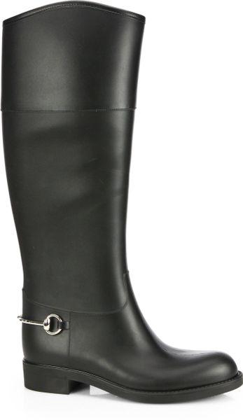Original Gucci Edimburg Rain Boot In Black  Lyst