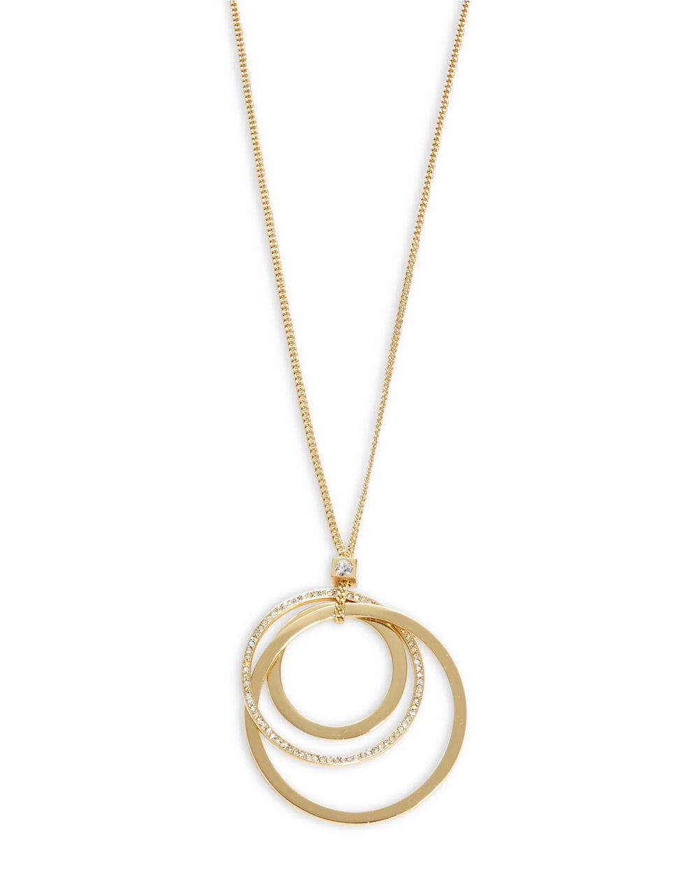 kate spade new york pave circle pendant necklace in
