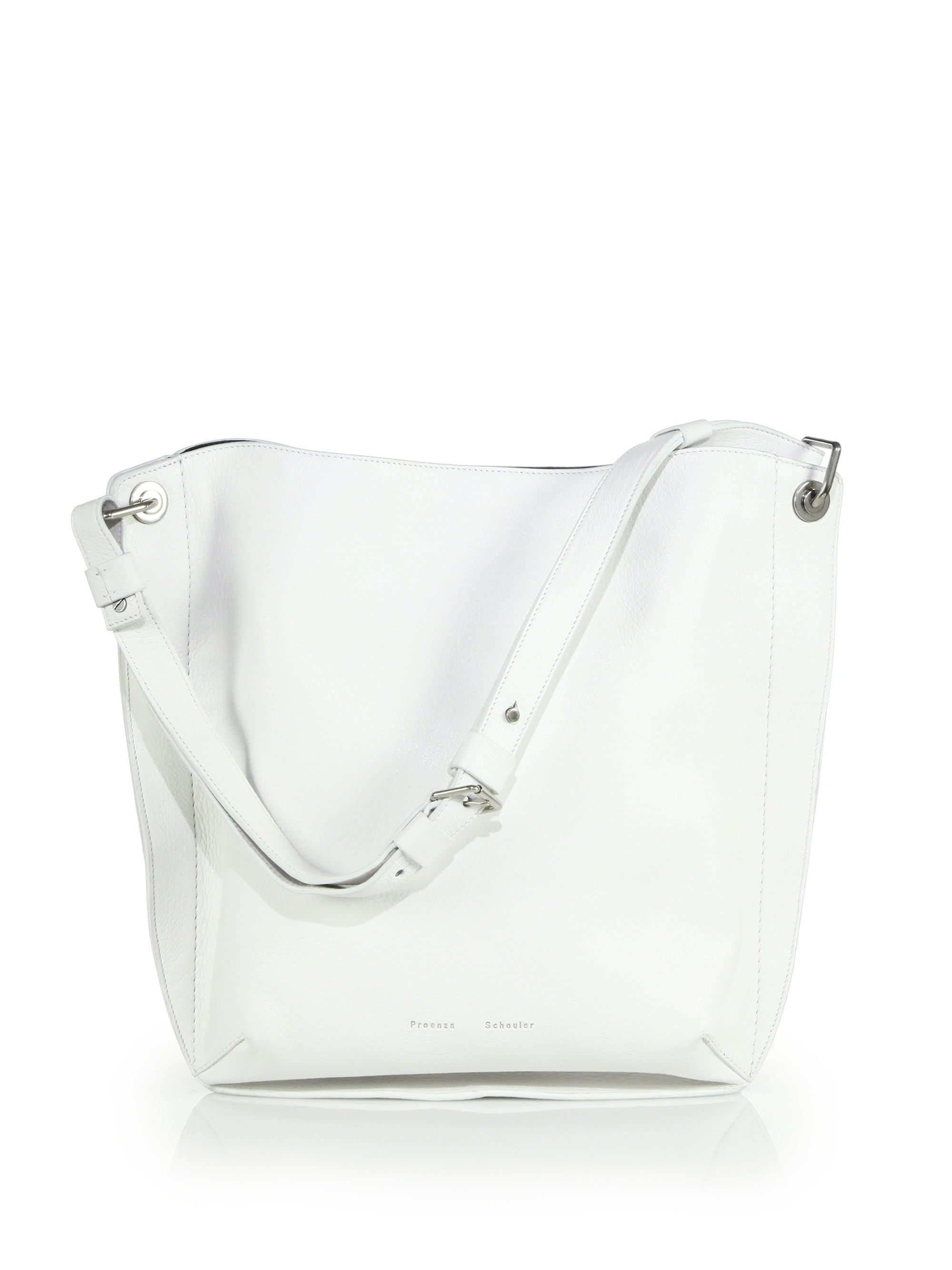 Lyst - Proenza Schouler Prospect Large Hobo Bag in White fddf0b65a5b42