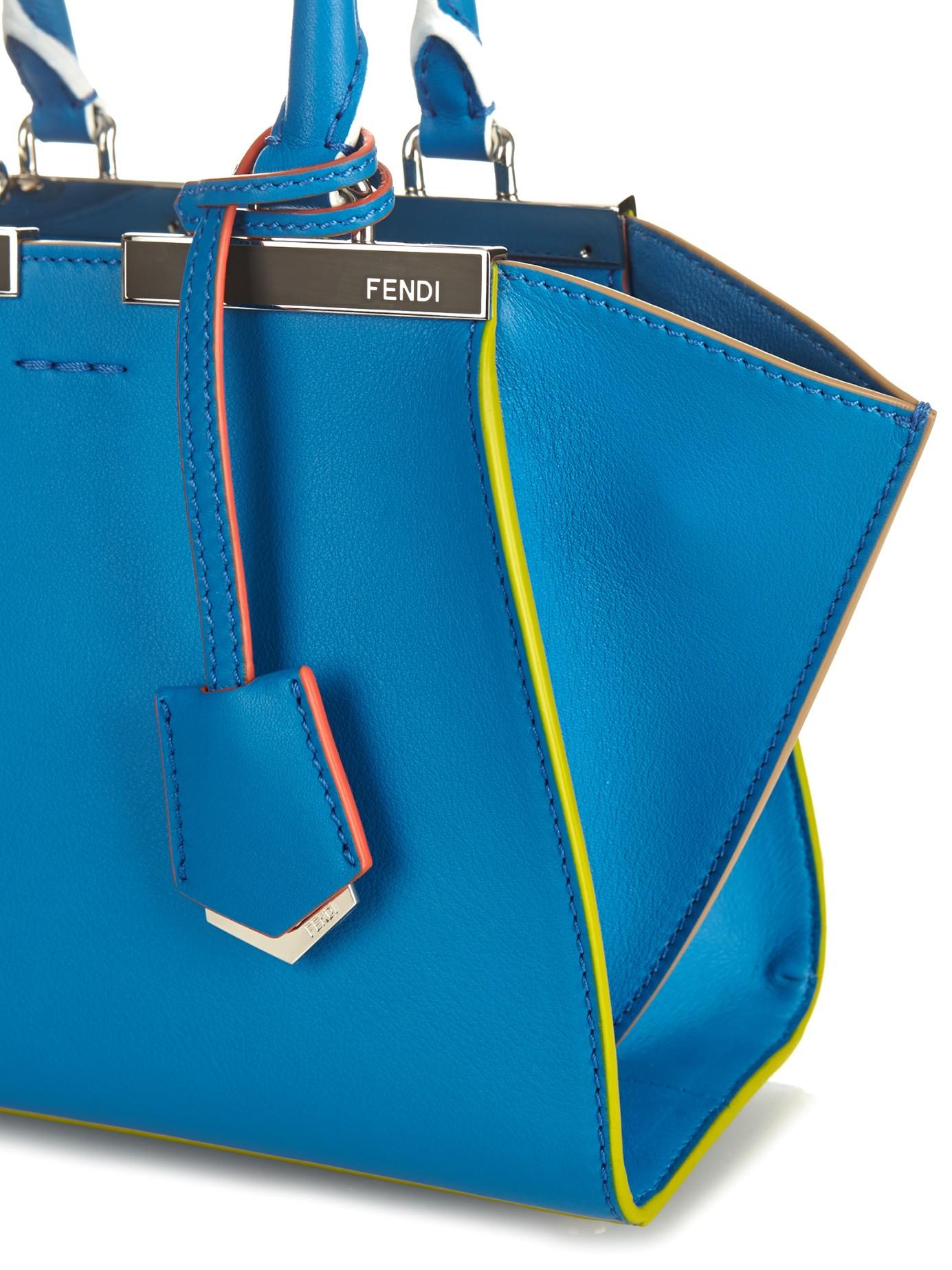 7405773cb9 Lyst - Fendi 3Jours Leather Cross-Body Bag in Blue