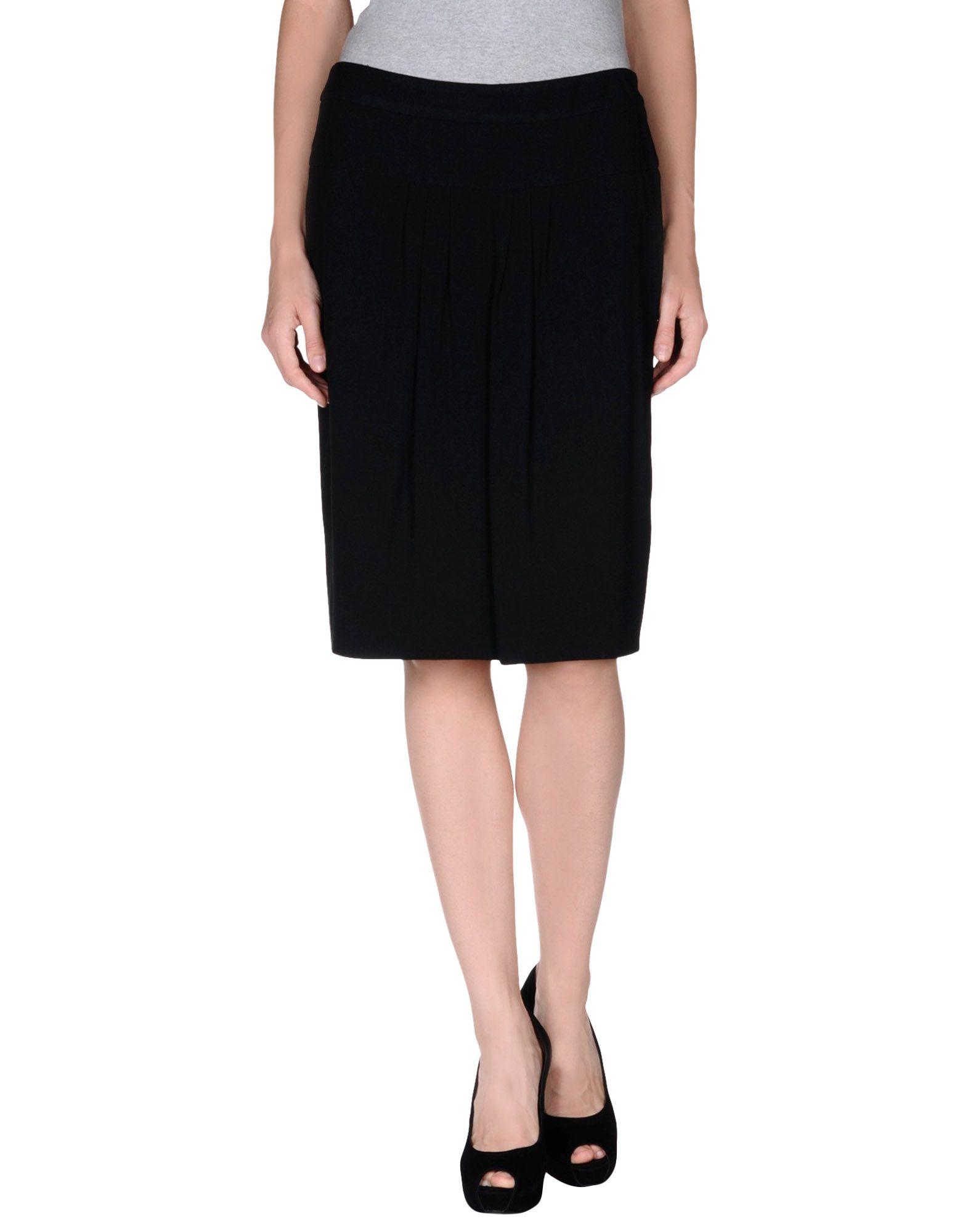 peserico knee length skirt in black save 60 lyst