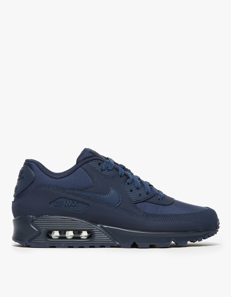 nike air max 90 essential in blue for men navy lyst. Black Bedroom Furniture Sets. Home Design Ideas