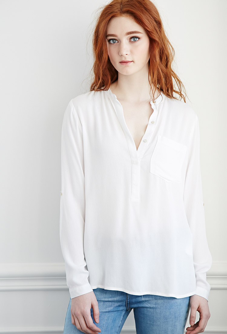 Women'S No Iron White Blouse 86