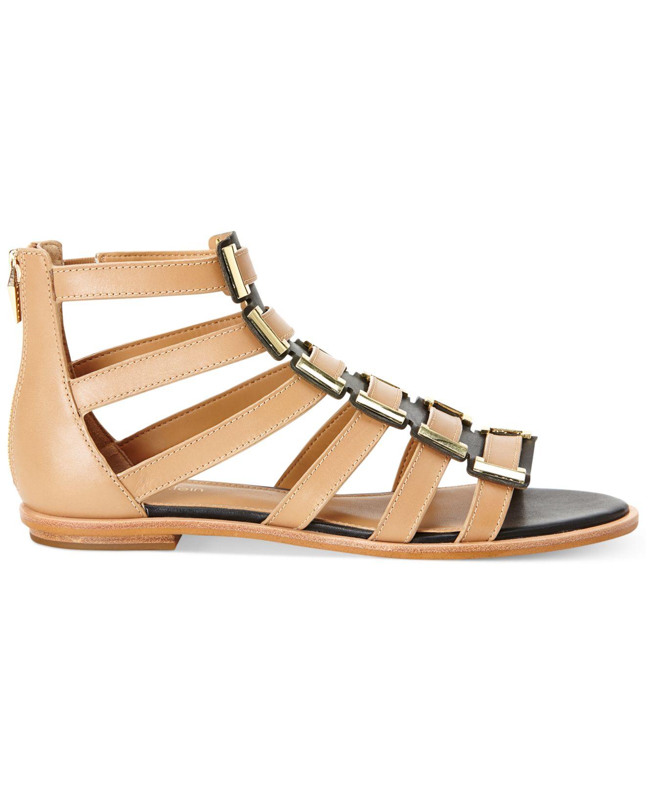 Calvin Klein Women S Undina Gladiator Sandals In Brown Lyst