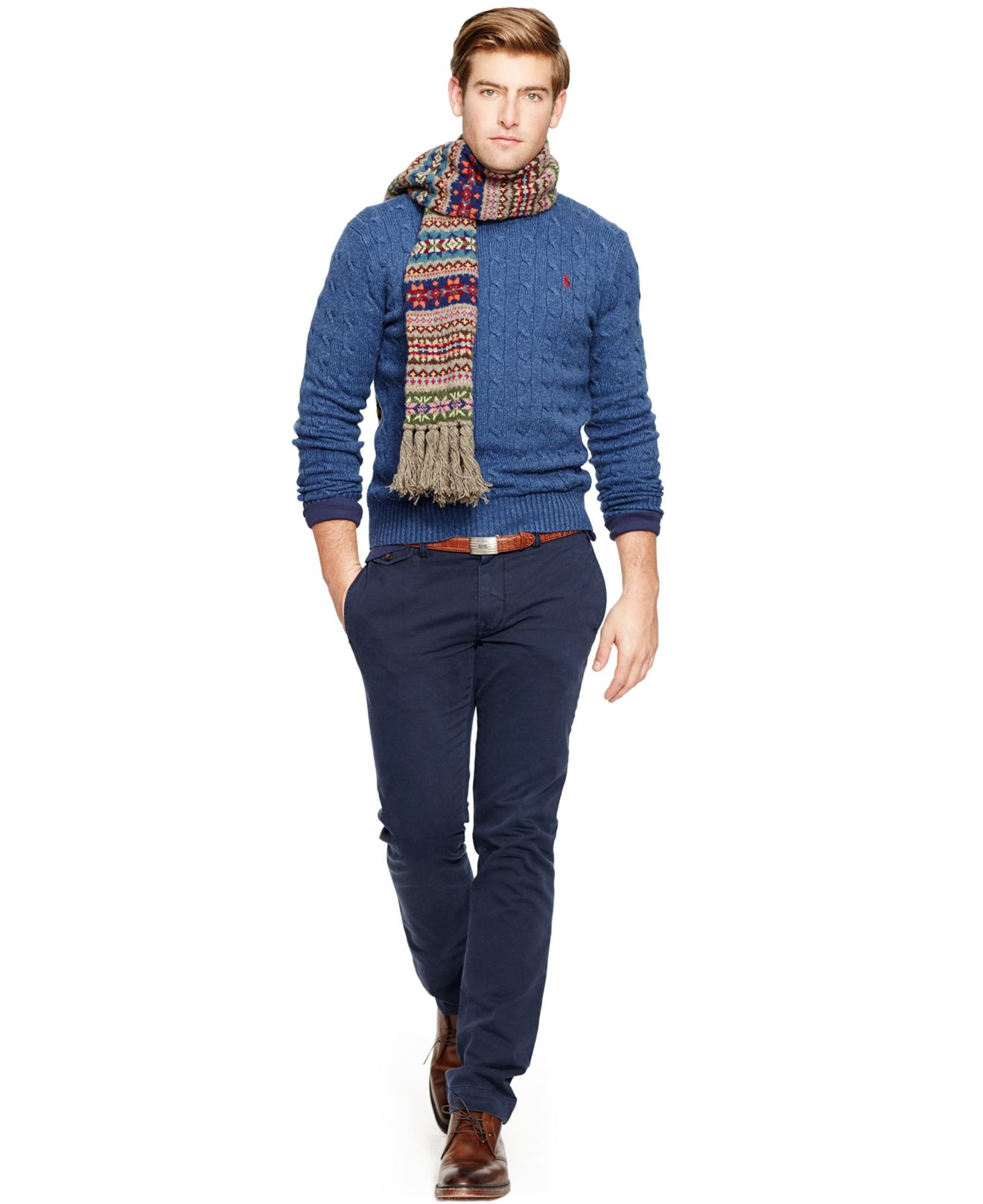 Blue Chino Pants For Men