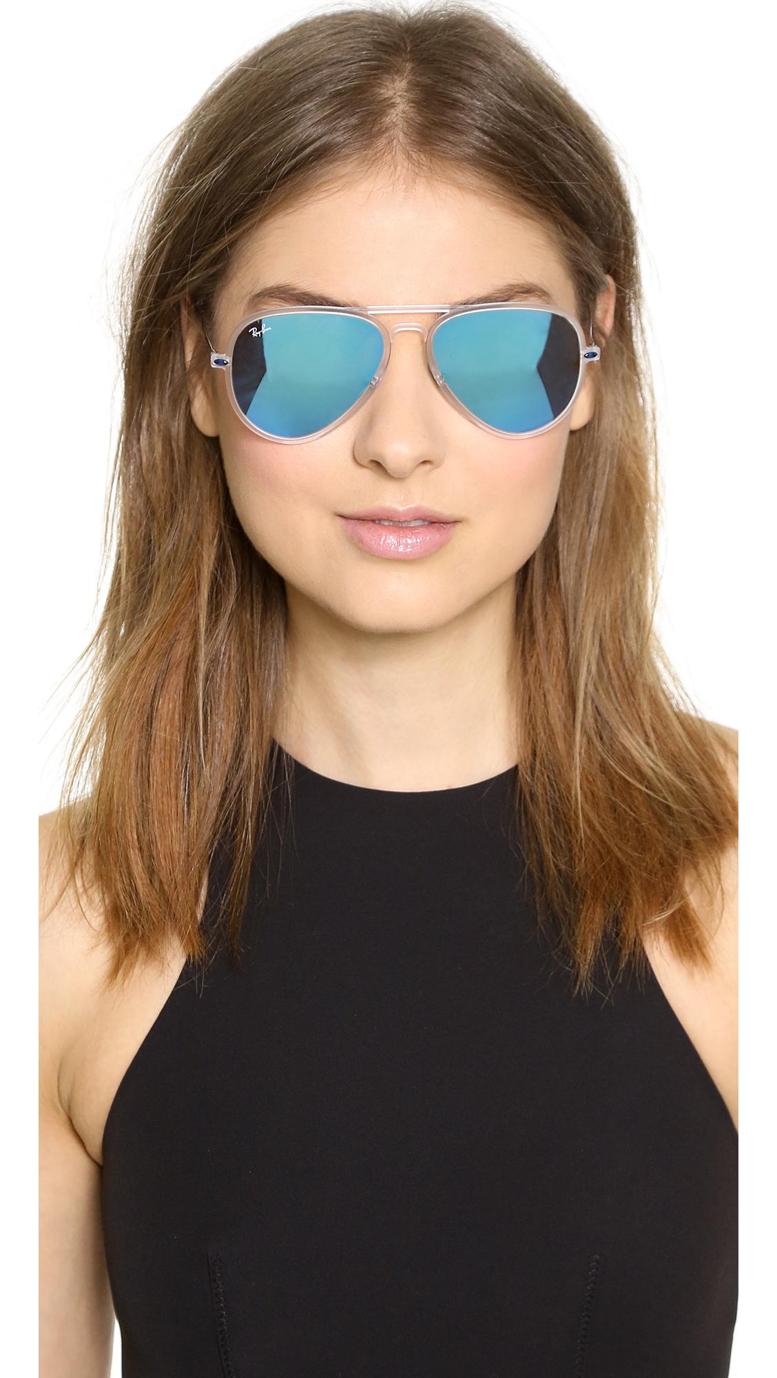 ... ii sunglasses rb 4211 612213 new 07b7a 0dad3 cheapest lyst ray ban tech  light aviator sunglasses matte transparentblue 95e49 f1ea0 ... b8b38ec05c