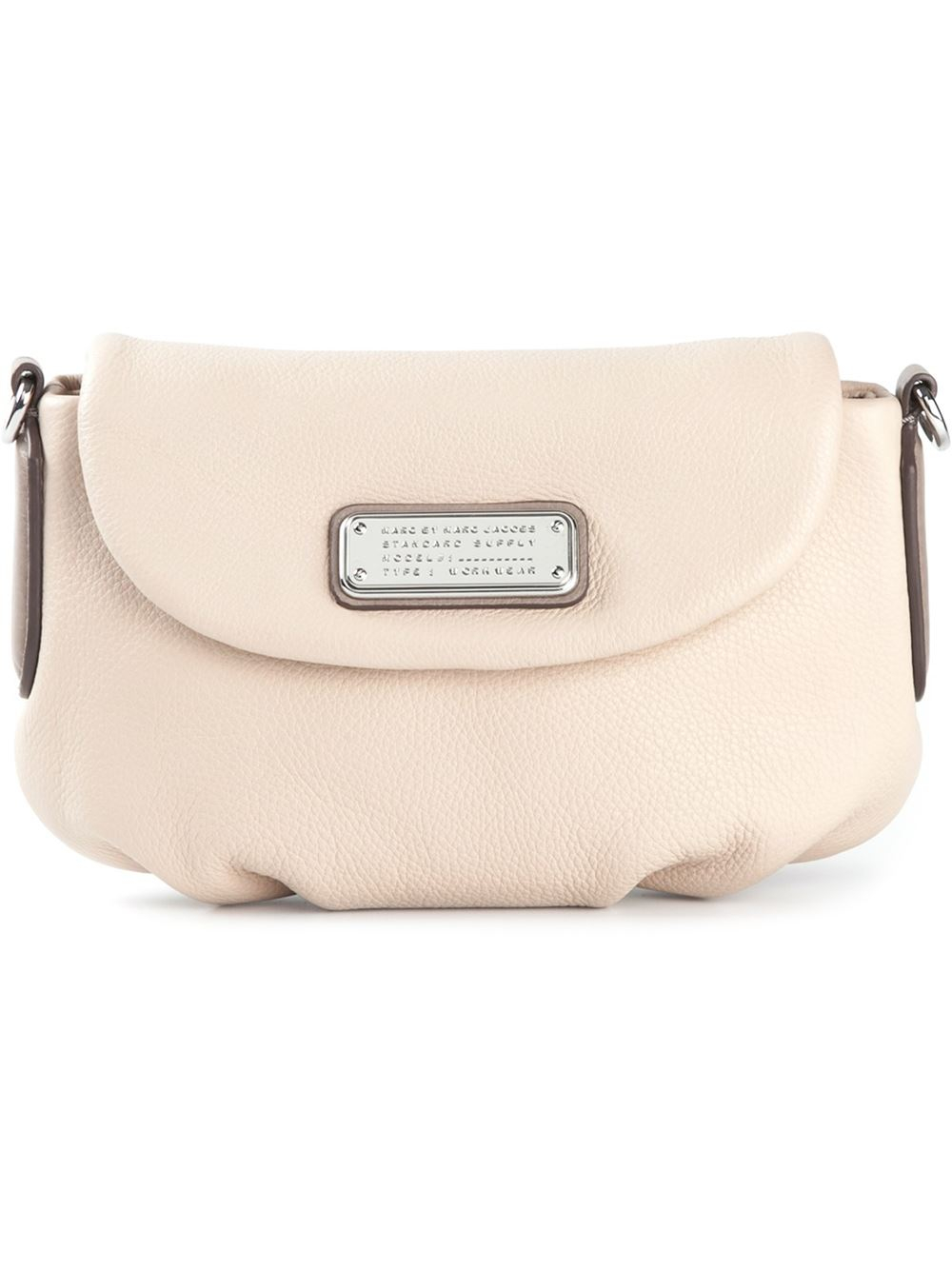 a710648c4766d Lyst - Marc By Marc Jacobs  New Q Flap Percy  Crossbody Bag in Natural