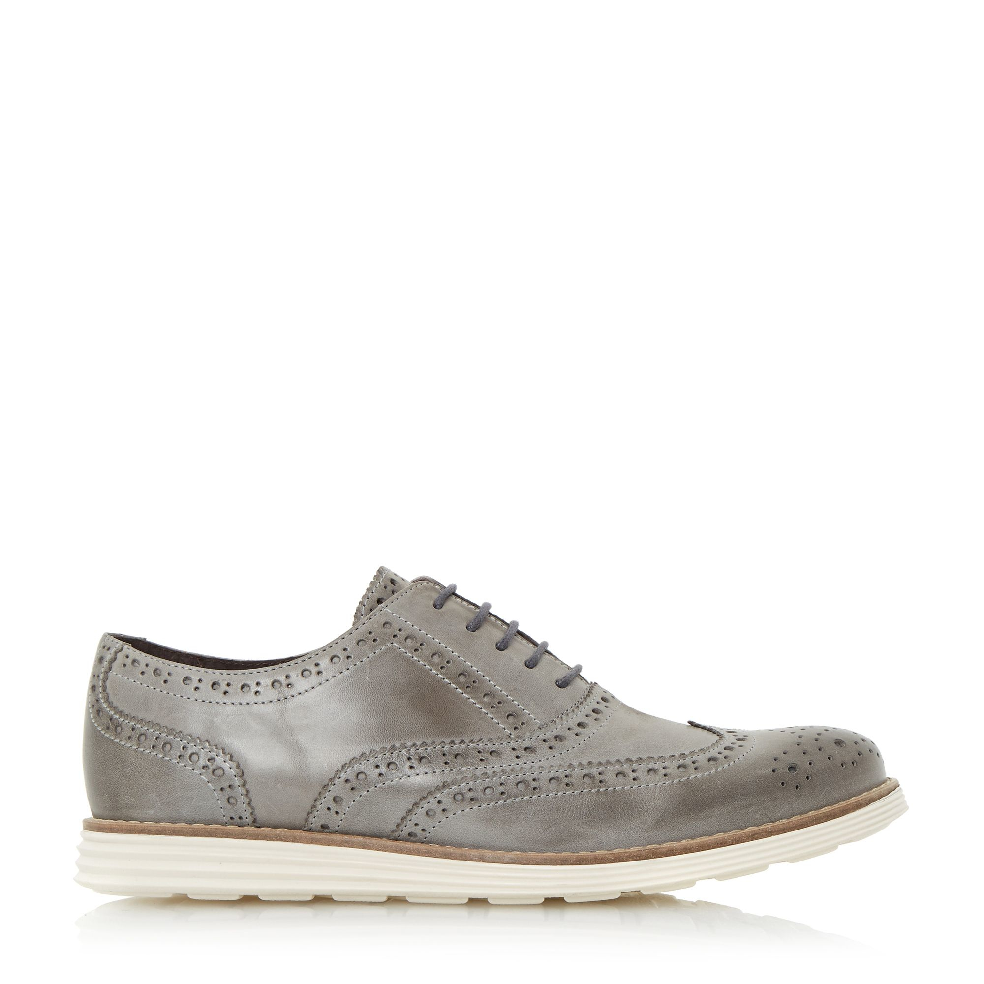 dune bayside wedge shoes in gray for lyst